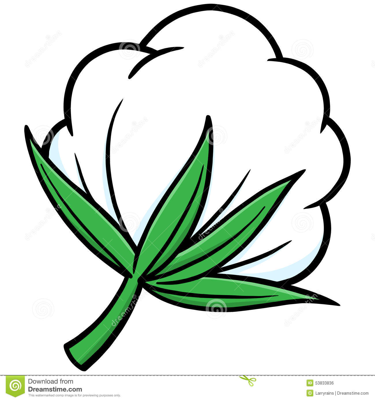 Cotton Stock Vector - Image: 53833836