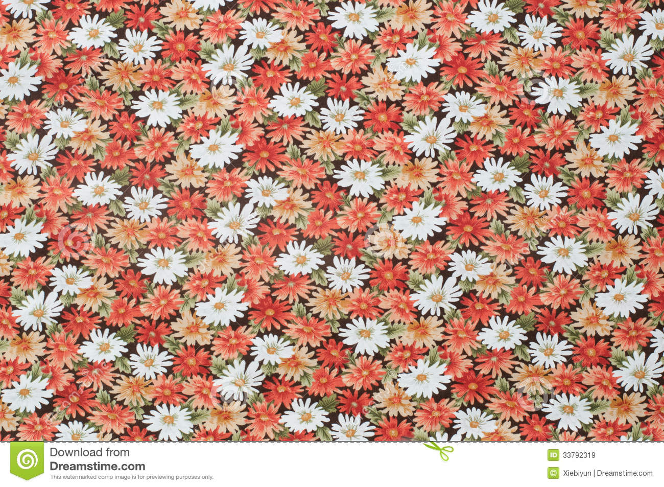 Cottonwood Close Up Antique Floral Fabric Royalty Free