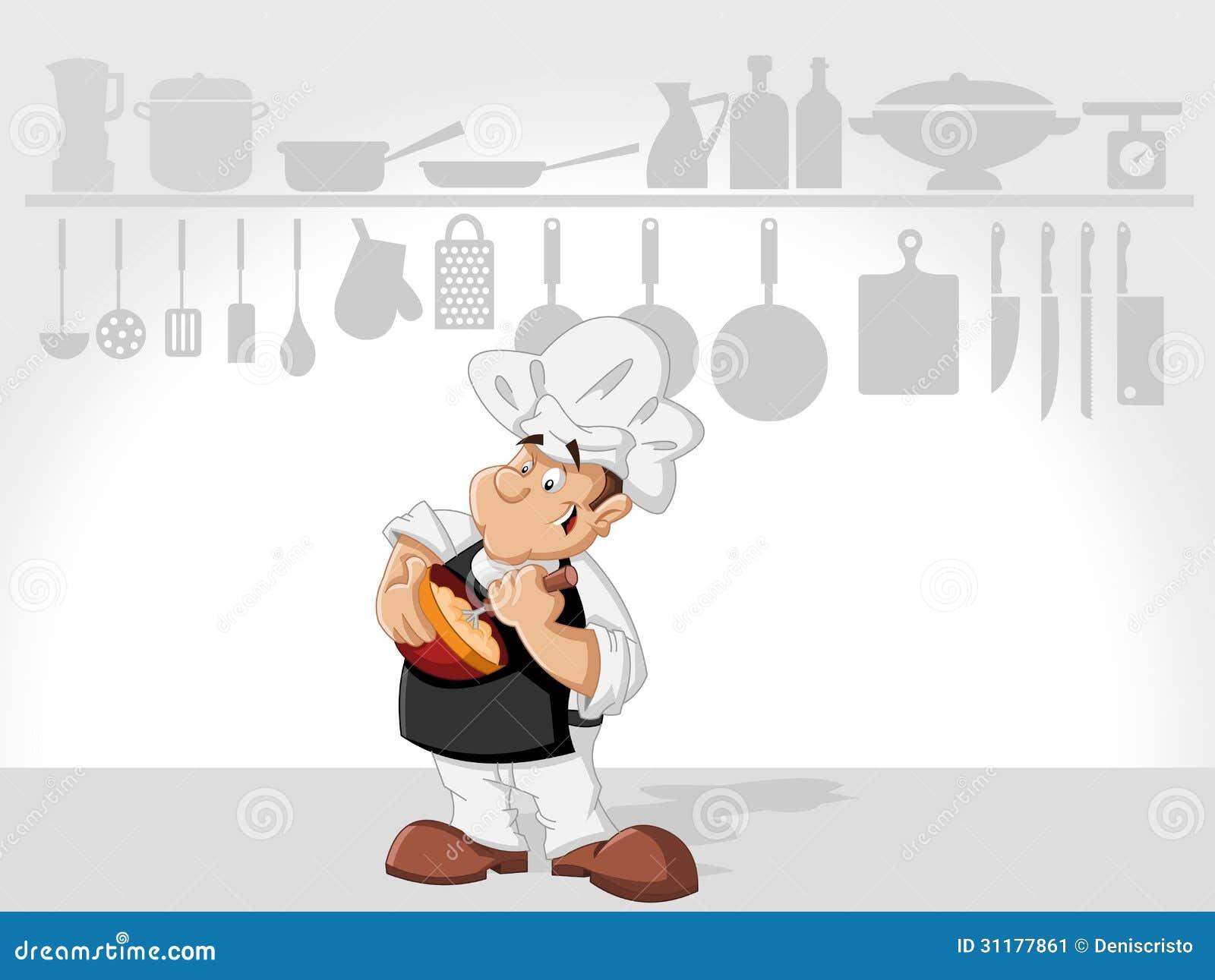 Cottura dell uomo del cuoco unico