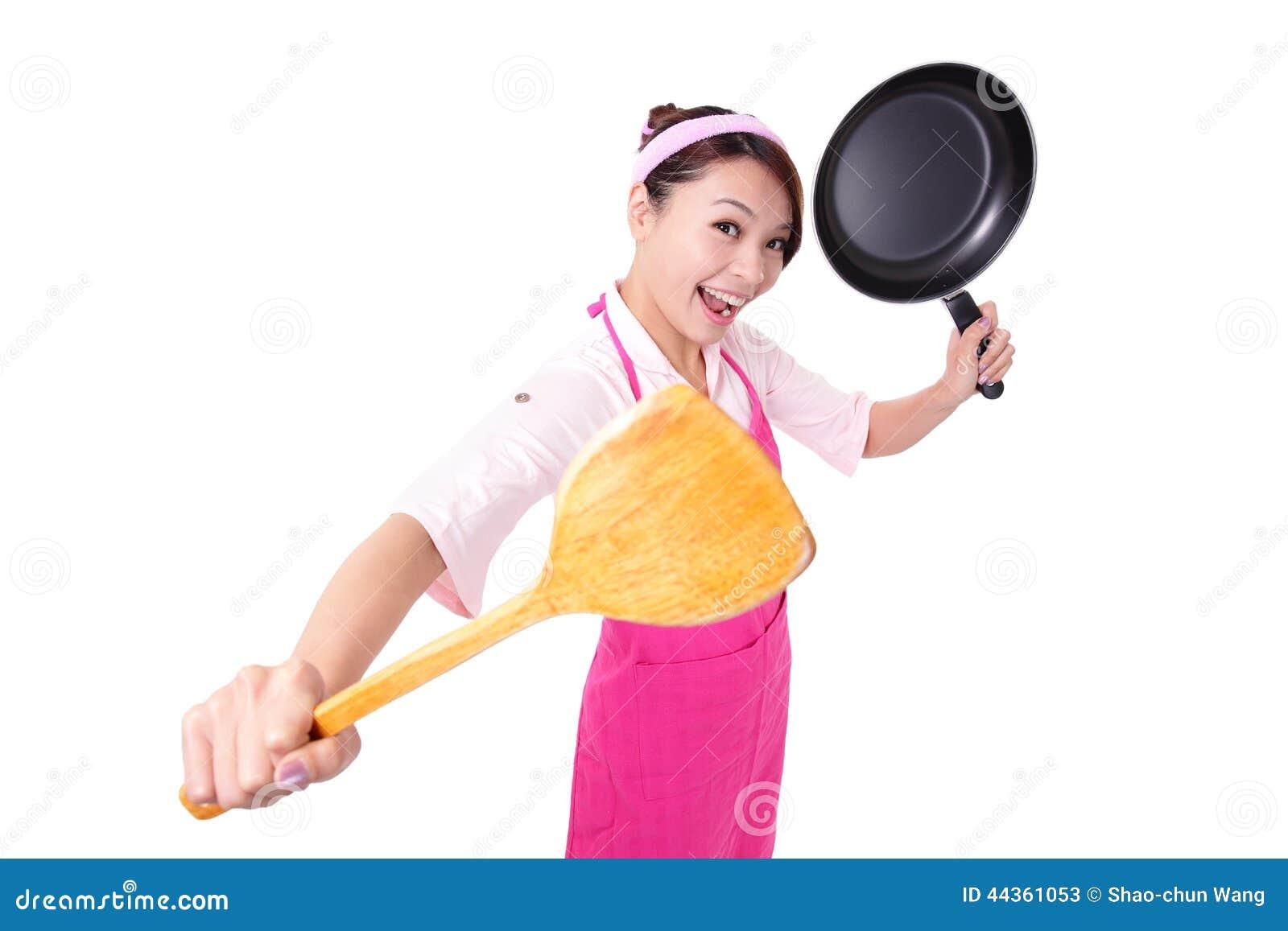 Cottura della casalinga della donna