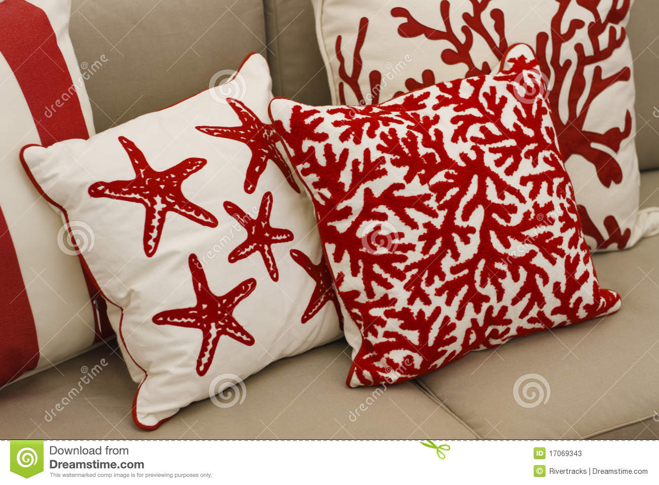 Couch With Designer Cushions Stock Image Image Of Sell