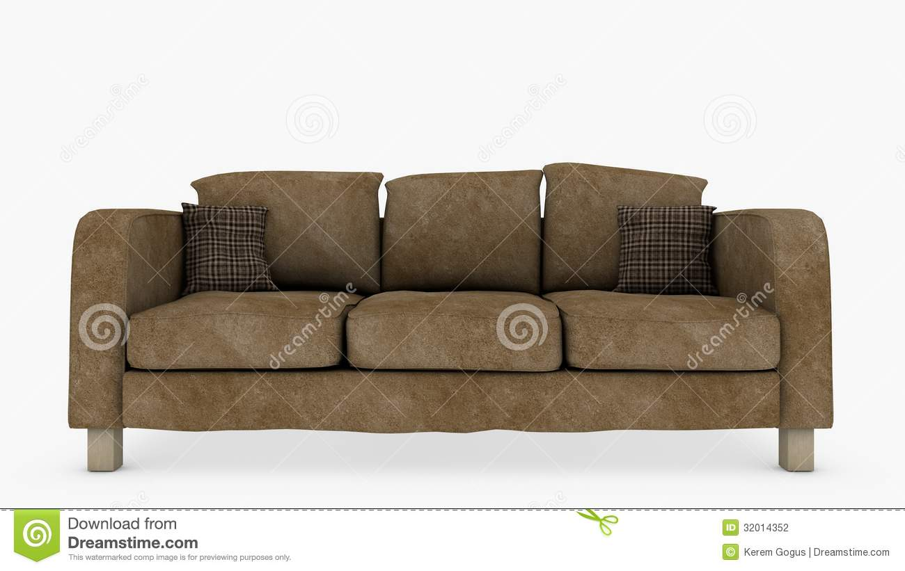 Couch Front View Stock Illustration Illustration Of Couch