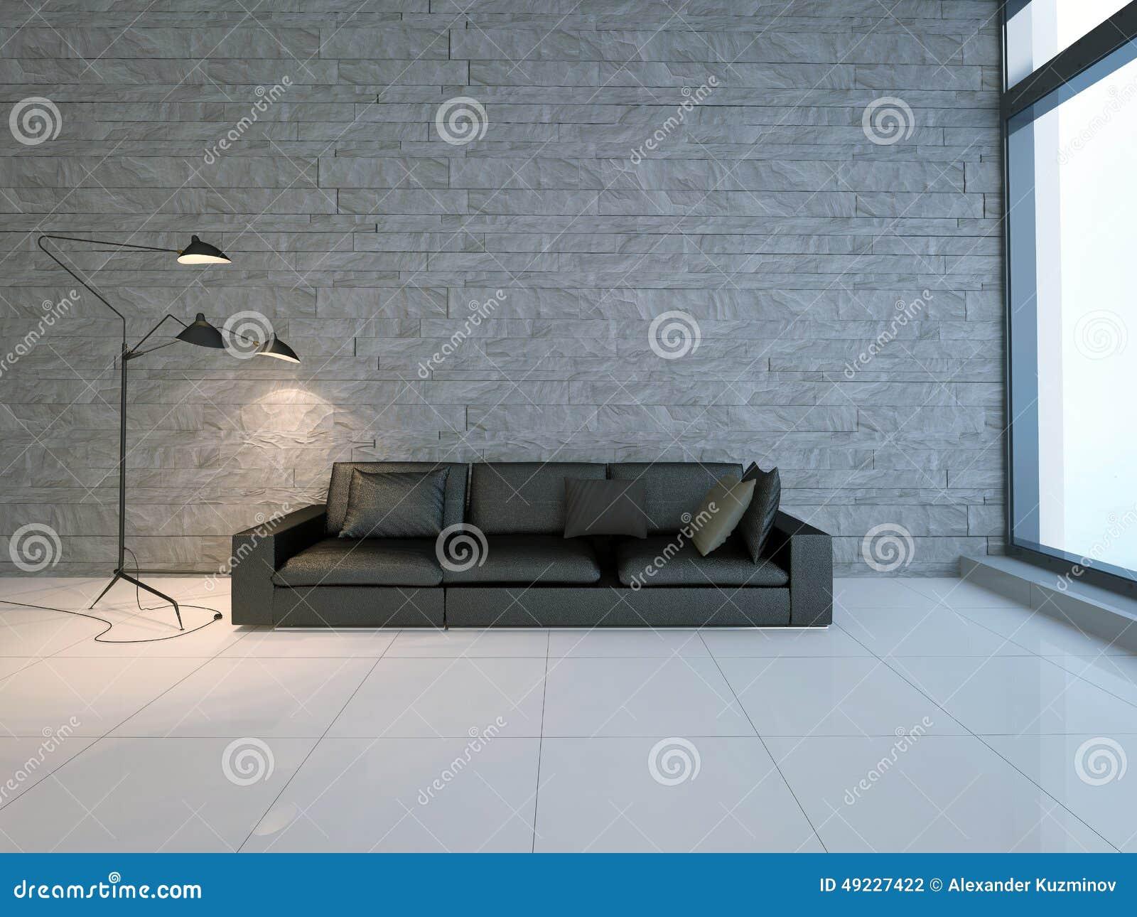 wohnzimmer sofa im raum:Couch Im Raum Stock Abbildung – Bild: 49227422