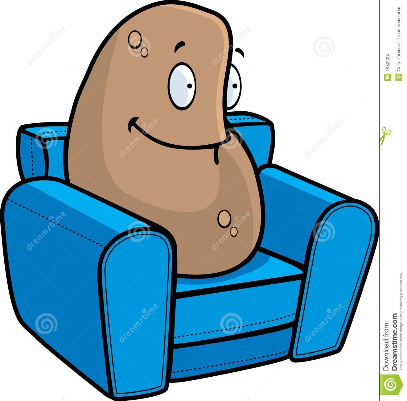 Lazy Person On Couch Cartoon Couch Potato stock vec...