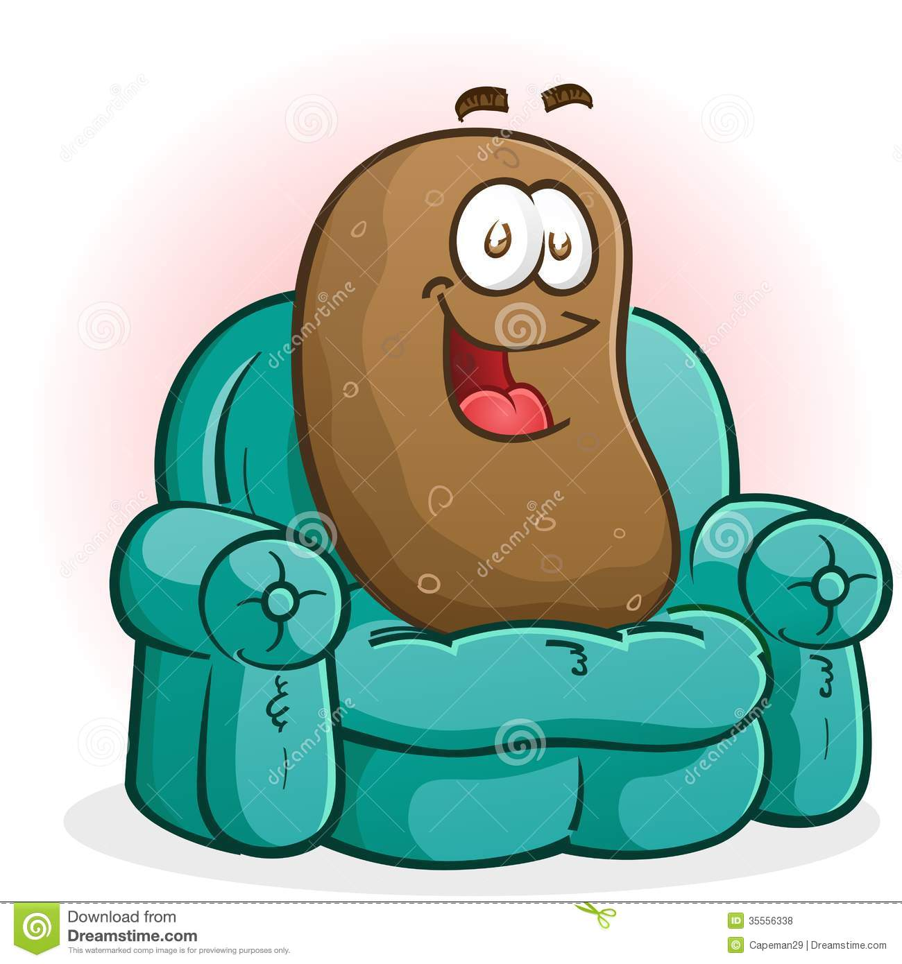 Couch Potato Cartoon Character Stock Vector Illustration Of Spud