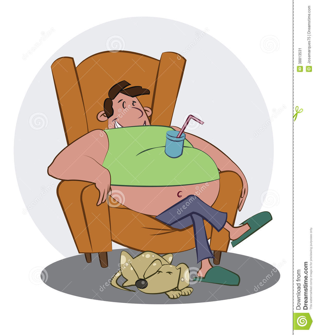 couch potato stock illustration illustration of beer 38813531 rh dreamstime com Fat Funny Cartoons Cartoon Fat Food