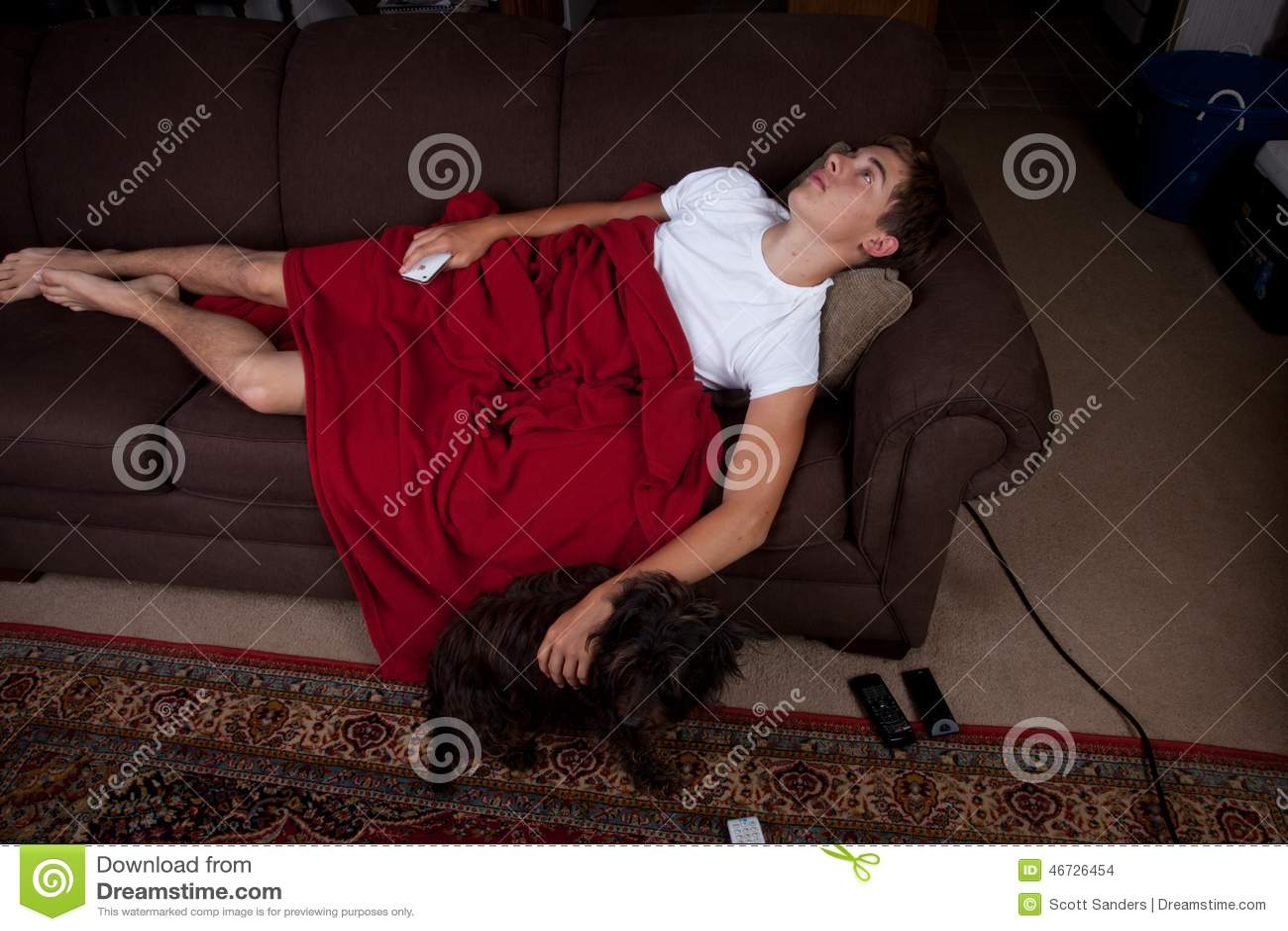 Couch Potato Stock Photo Image 46726454