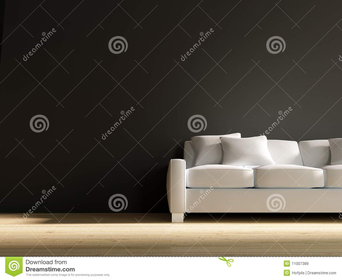 Fantastic Couch To Face A Blank Wall Stock Illustration Illustration Machost Co Dining Chair Design Ideas Machostcouk