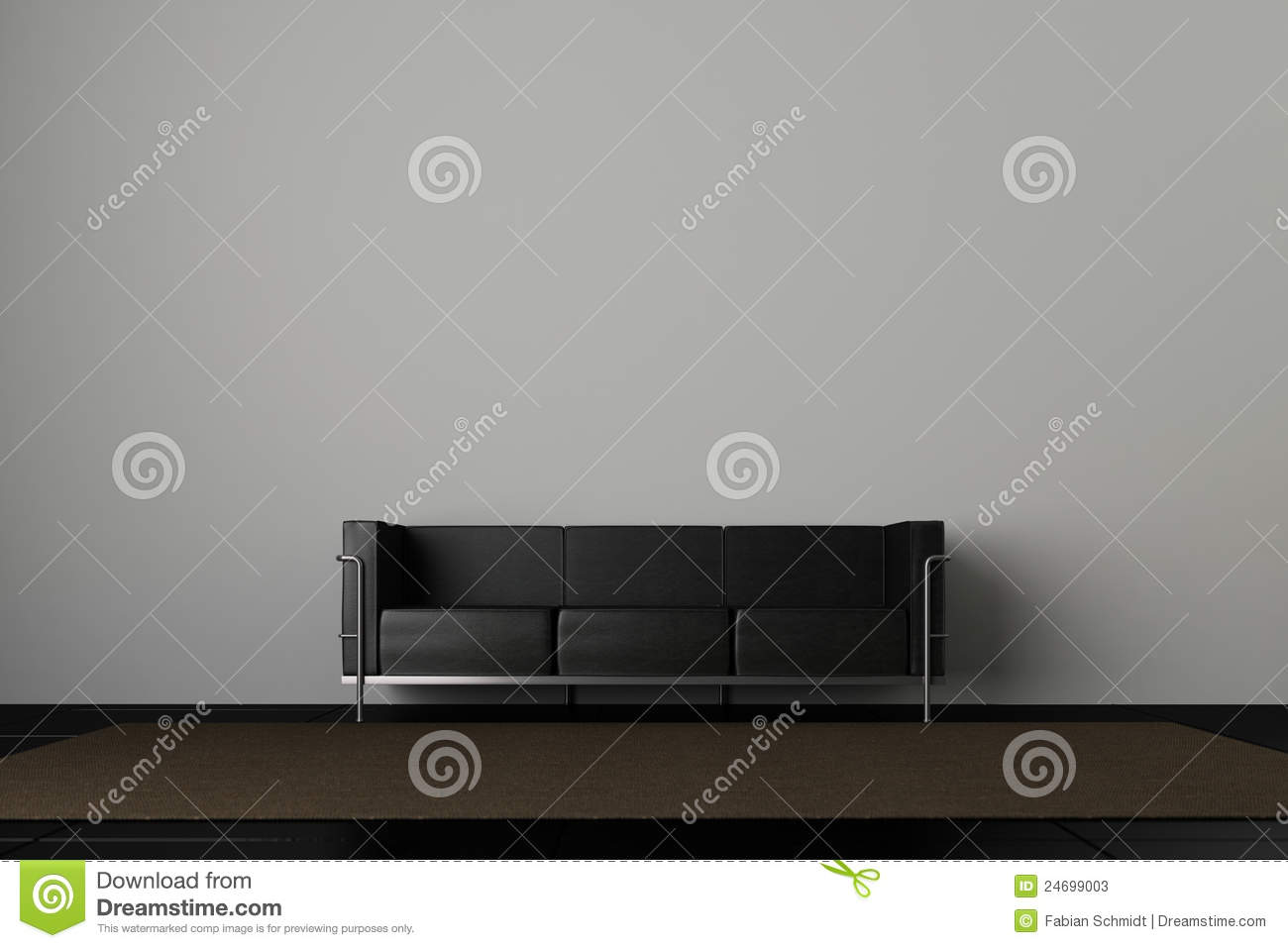 couch und graue wand stock abbildung illustration von innen 24699003. Black Bedroom Furniture Sets. Home Design Ideas