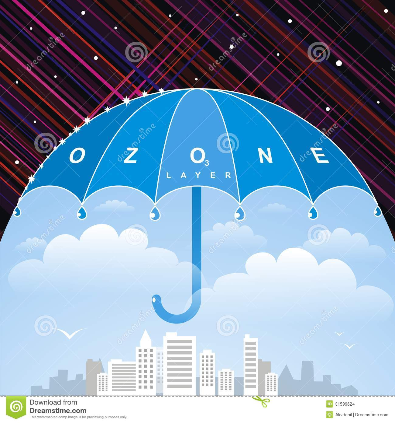 Couche d 39 ozone images stock image 31599624 for O zone architecture