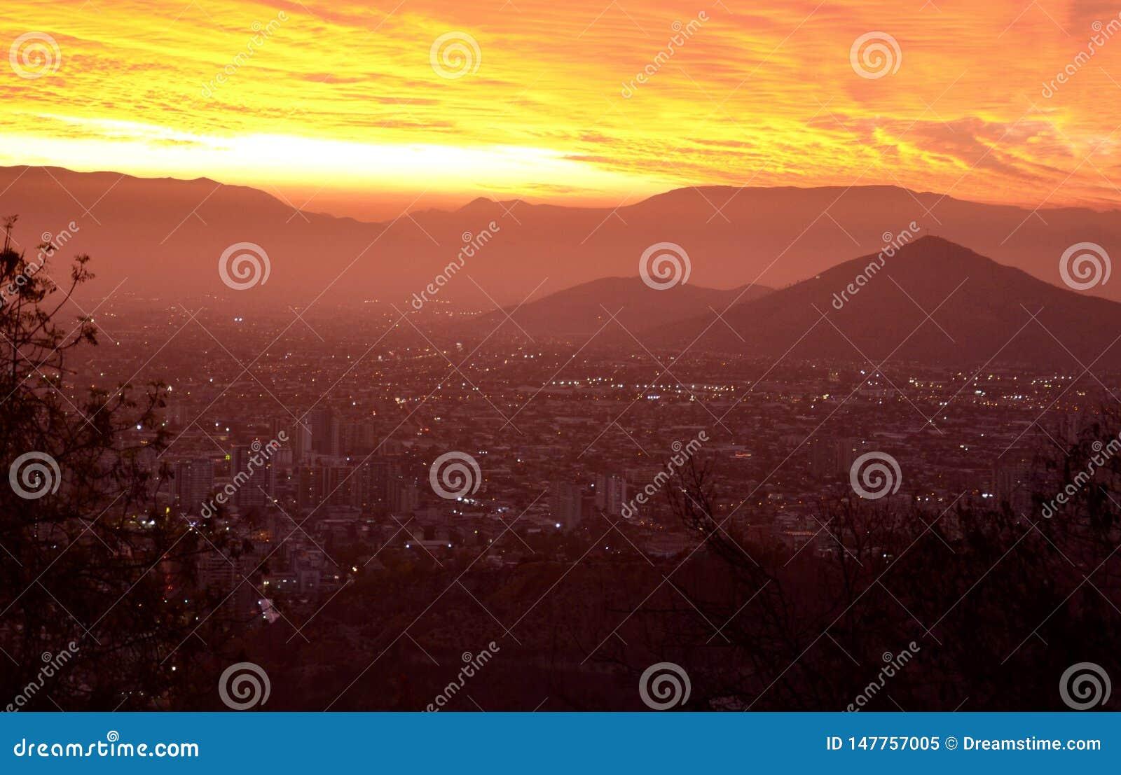 Coucher De Soleil sura Santiago de Chile