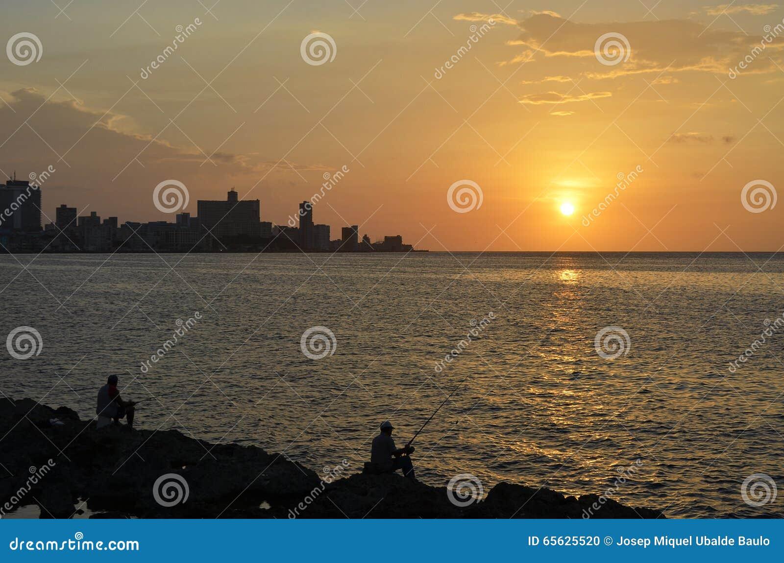 Coucher du soleil à La Havane (Cuba)