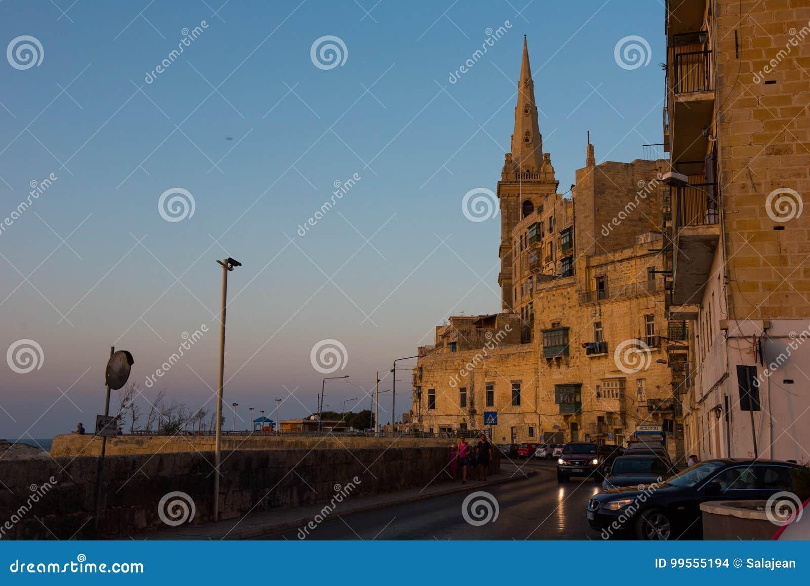 Coucher du soleil à La Valette, Malte