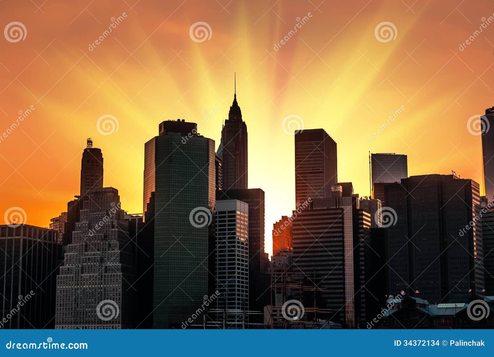 Coucher du soleil new york city images stock image - Coucher du soleil new york ...