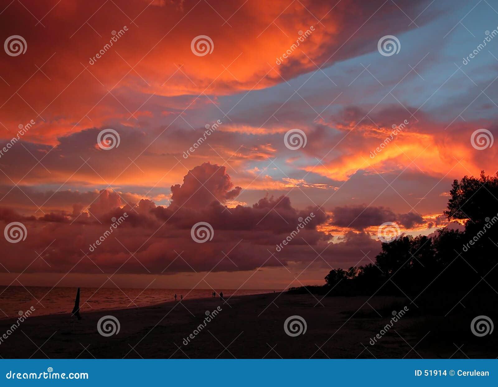 Download Coucher du soleil photo stock. Image du tropical, été, merveille - 51914