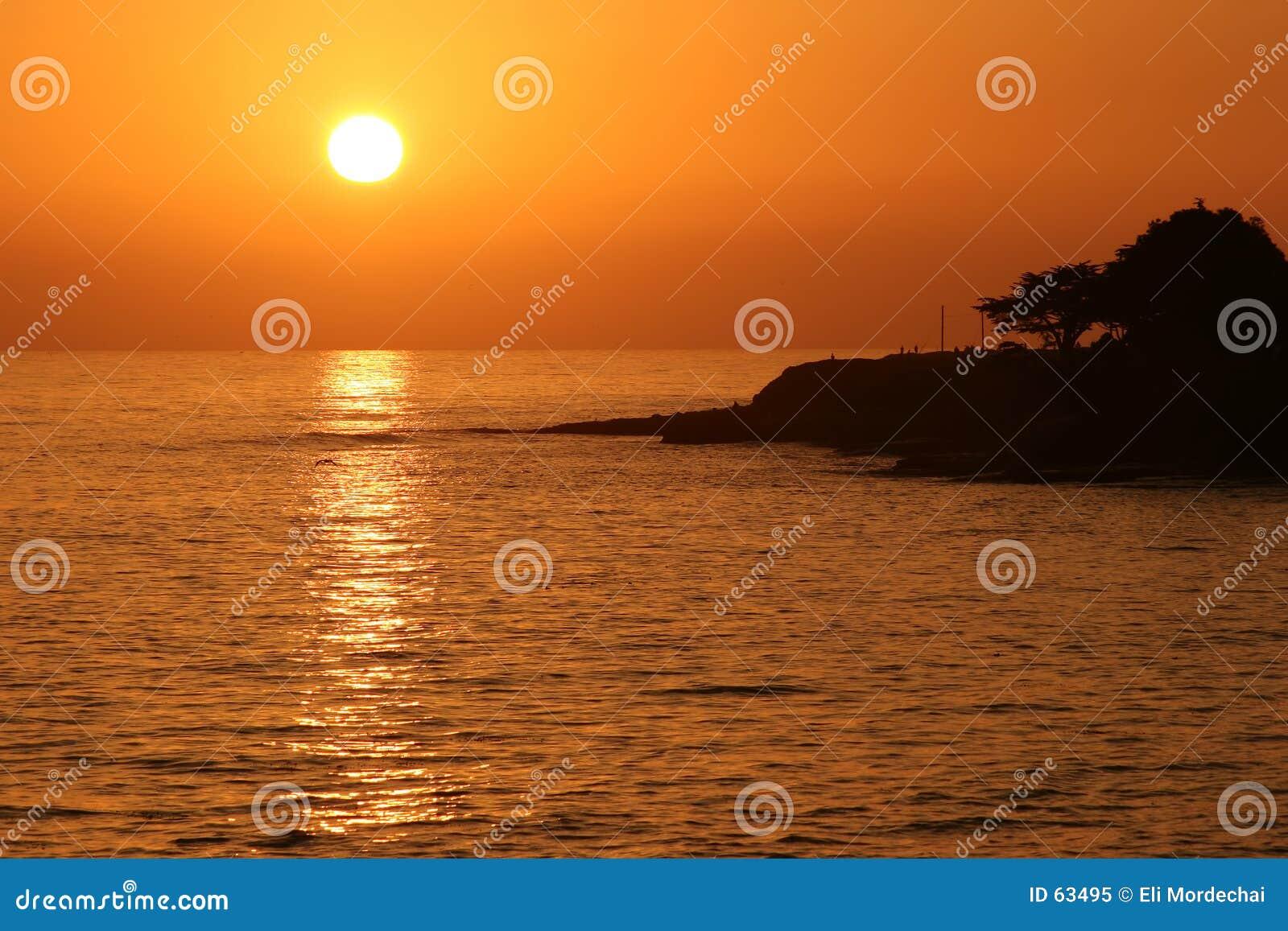 Download Coucher du soleil image stock. Image du plage, rivage, pacifique - 63495