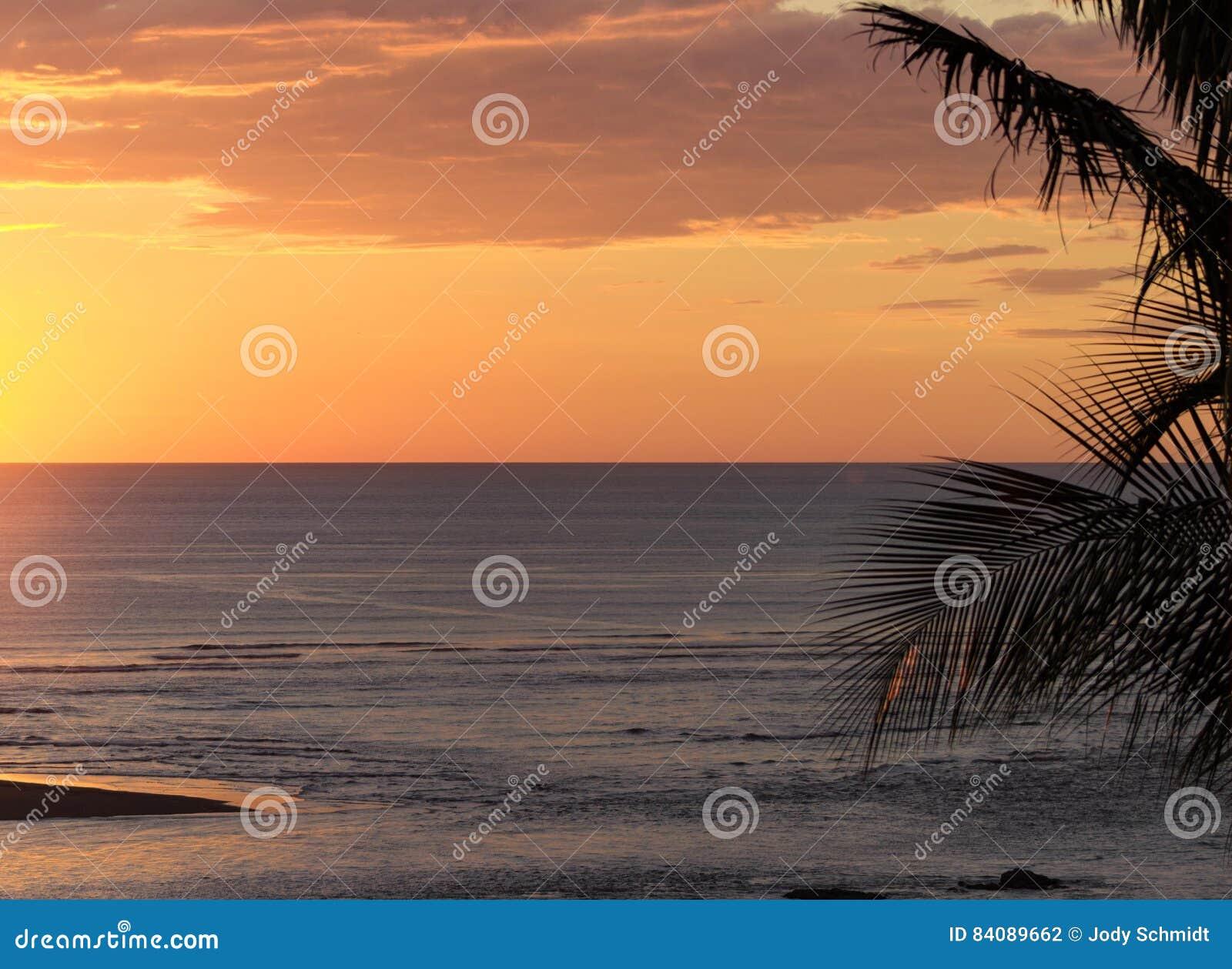 Coucher du soleil au-dessus du Pacifique