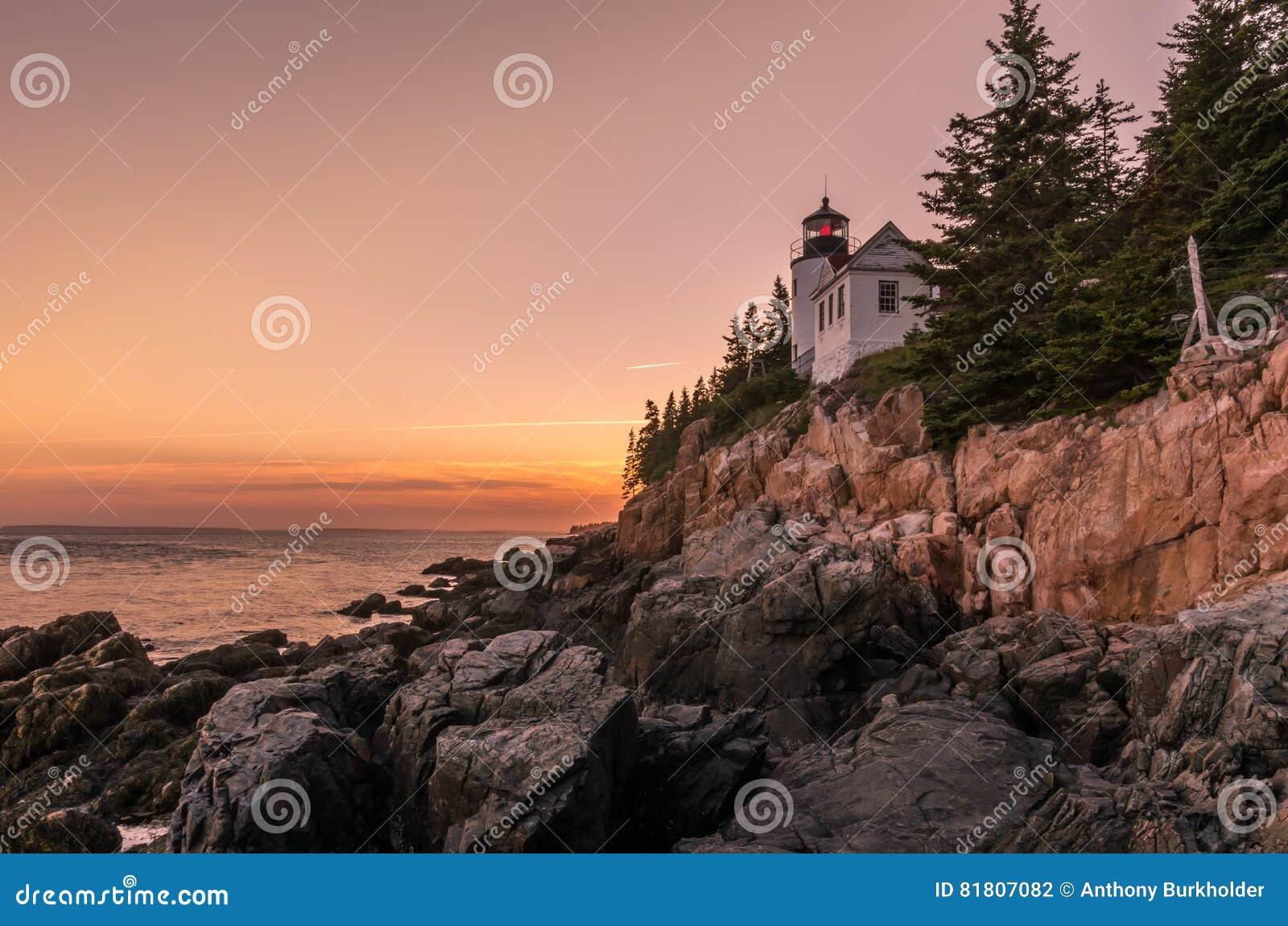 Coucher du soleil chez Bass Harbor Head Light
