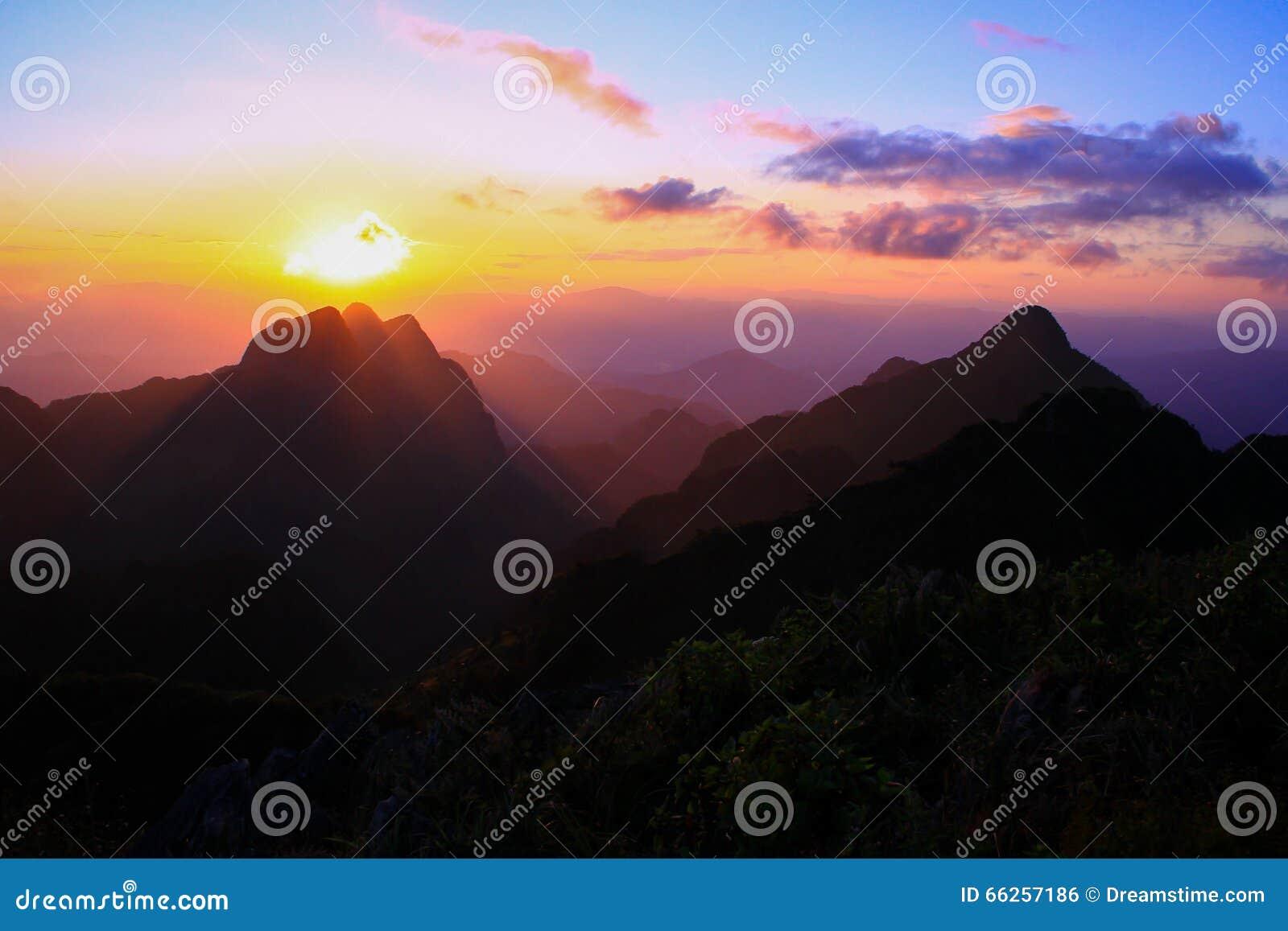 Coucher du soleil chez Doi Chiang Dow