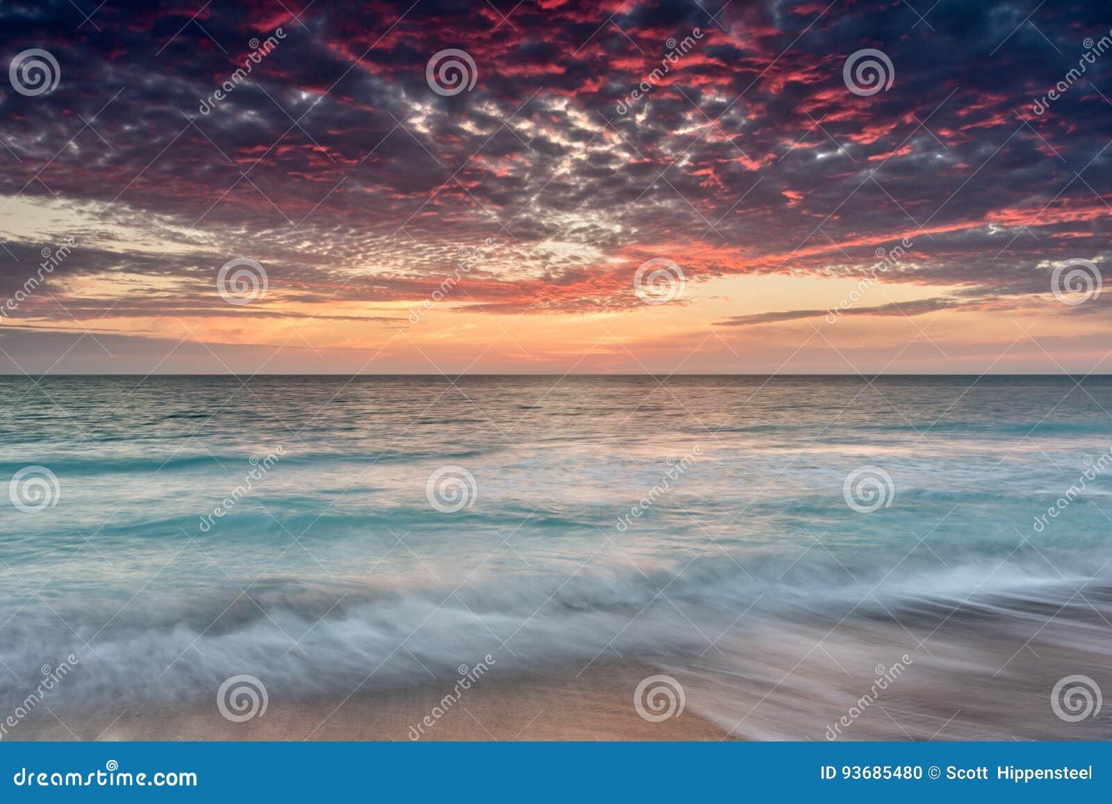 Coucher du soleil d île de Sanibel