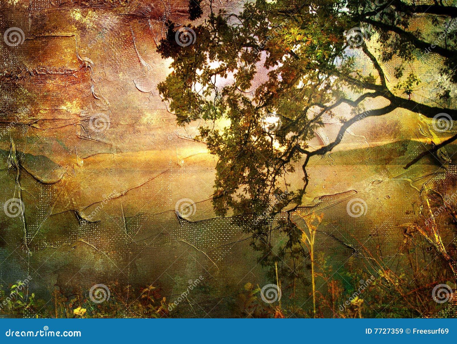 Coucher du soleil d automne
