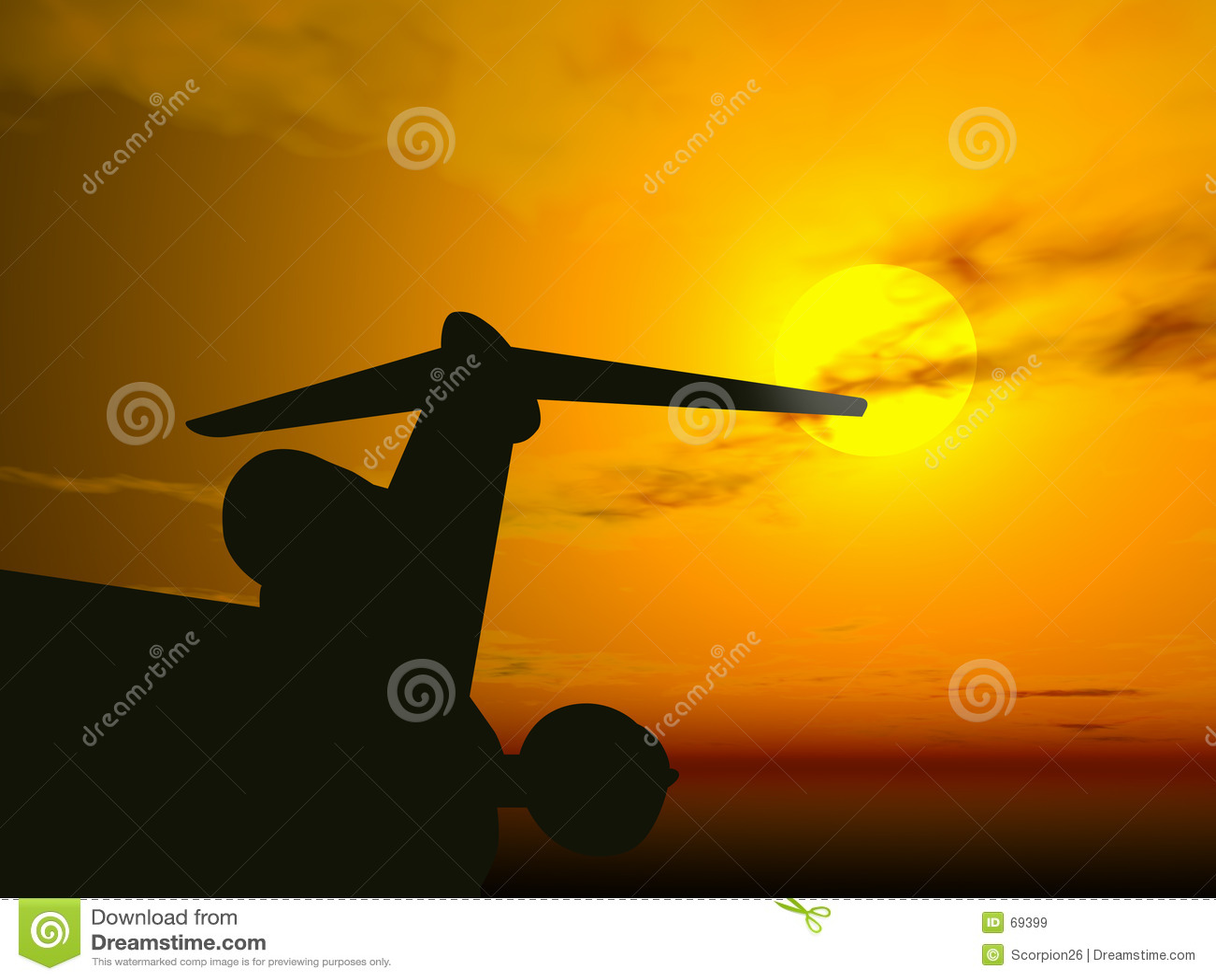 Coucher du soleil d avion @