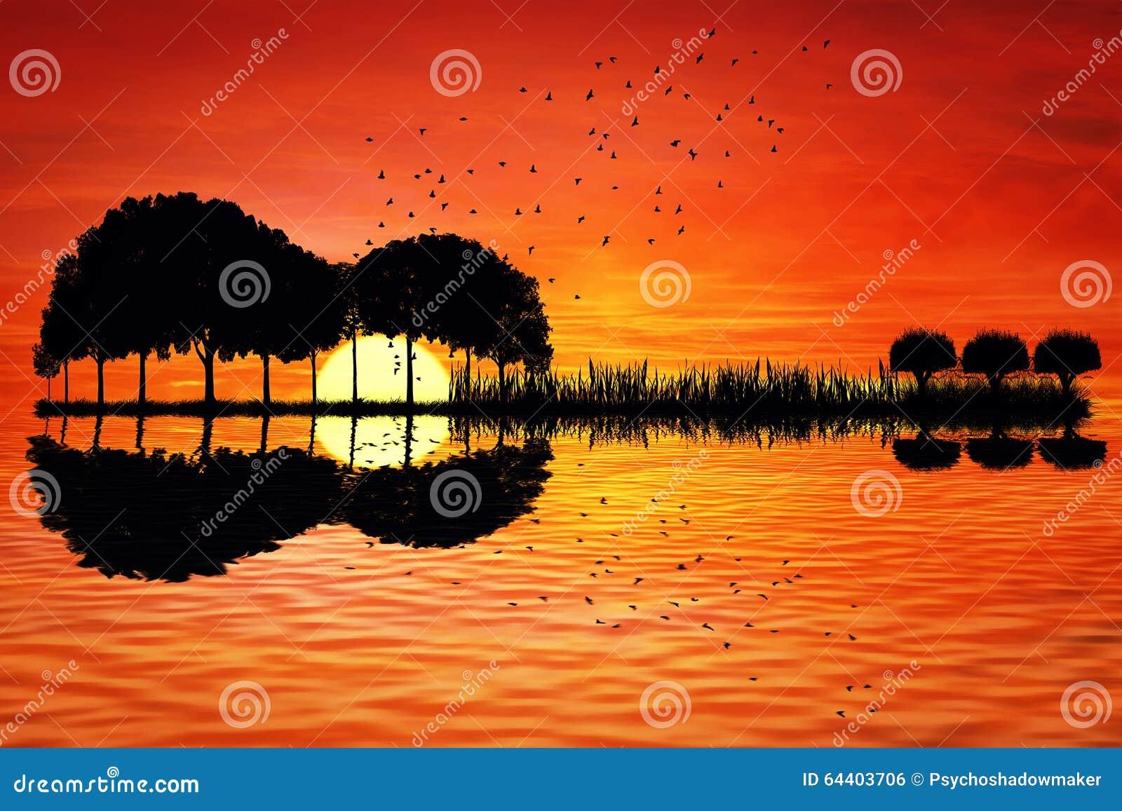coucher du soleil d  u00eele de guitare photo stock image guitar vectors