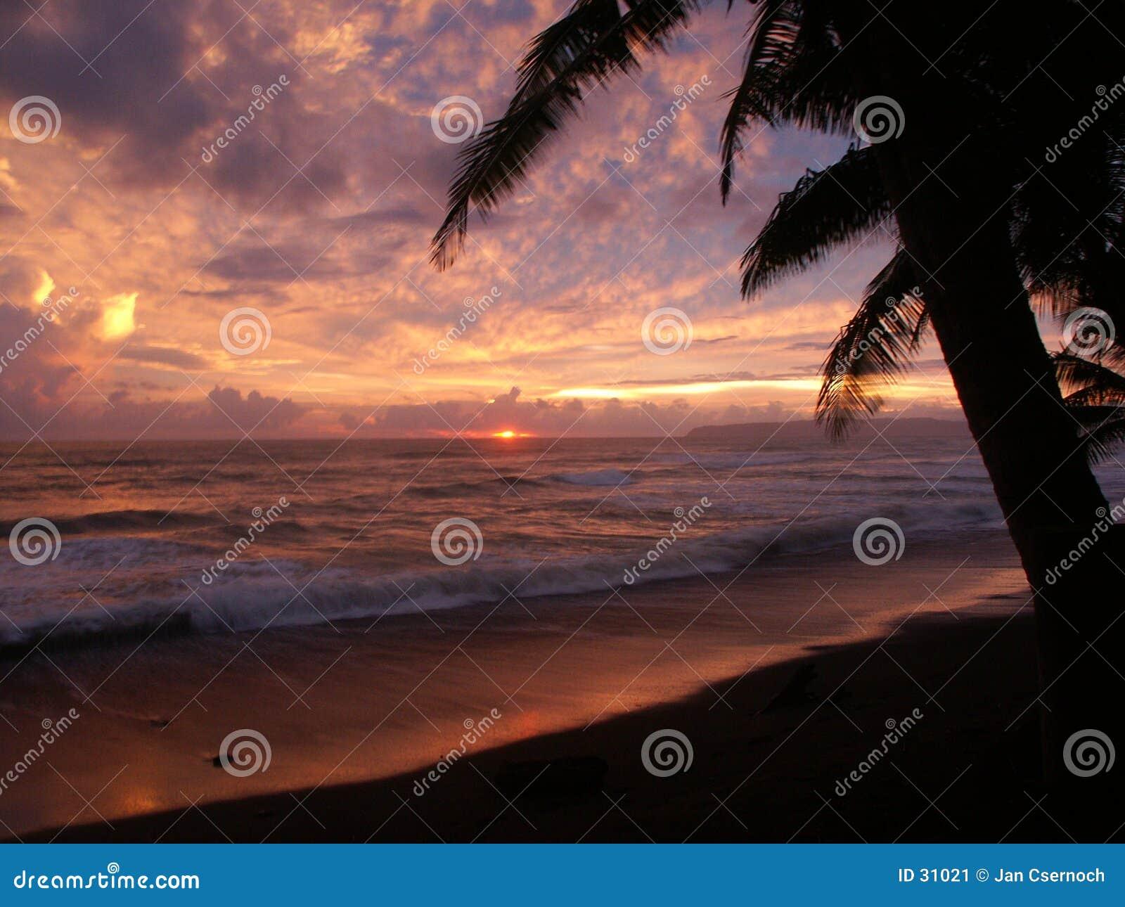 Coucher du soleil dans Punta banco