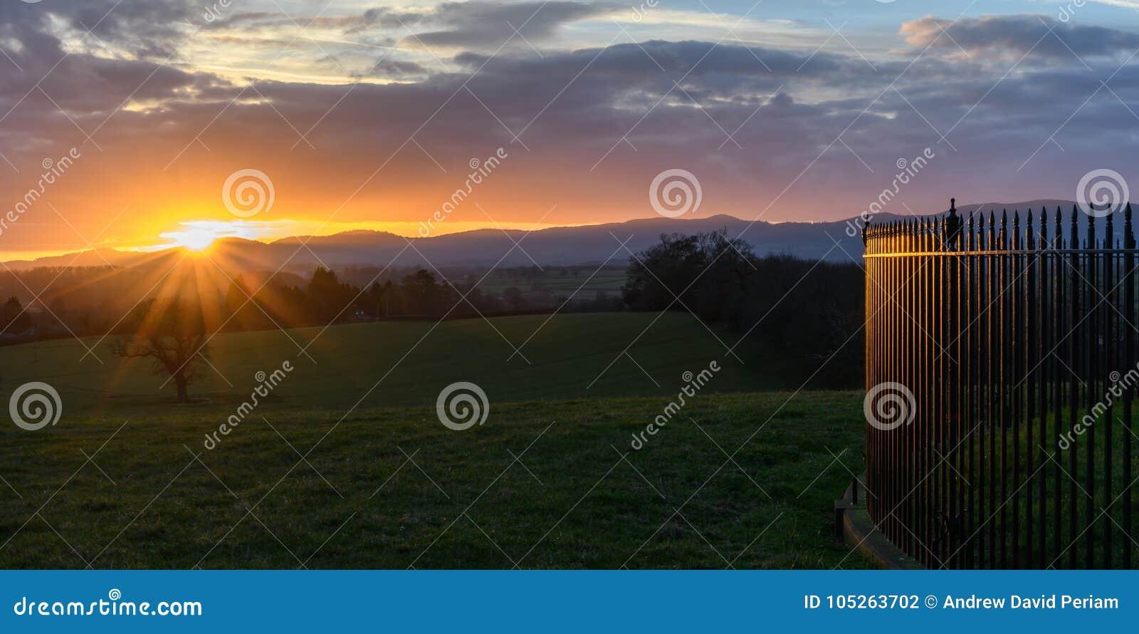 Coucher du soleil dans Worcestershire