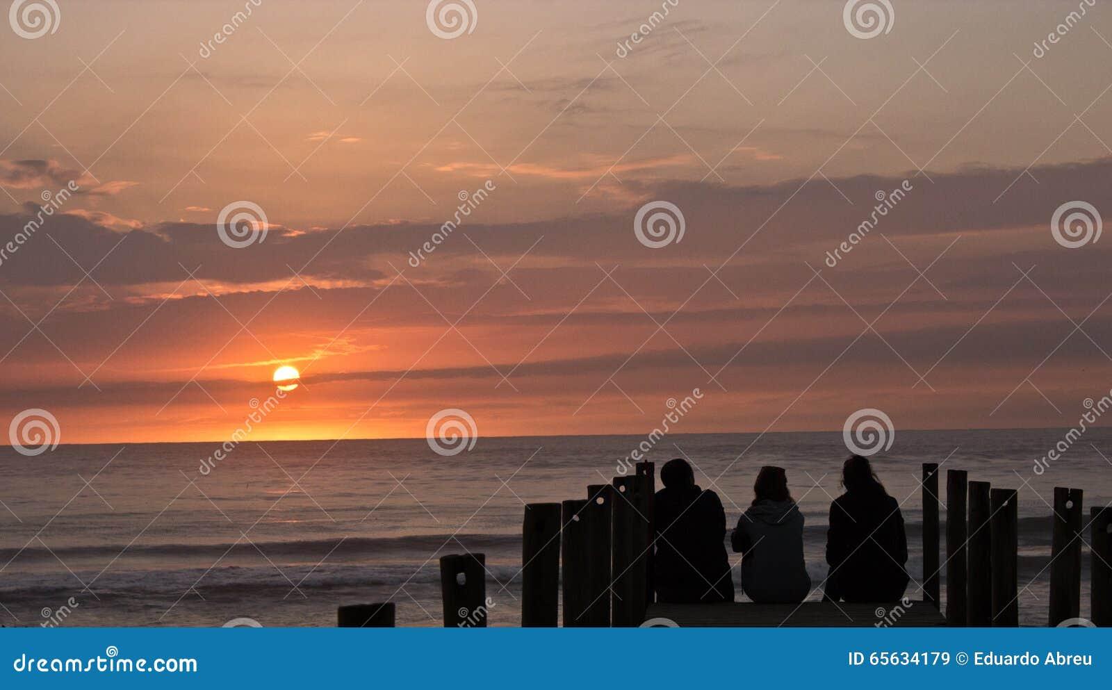 Coucher du soleil de famille