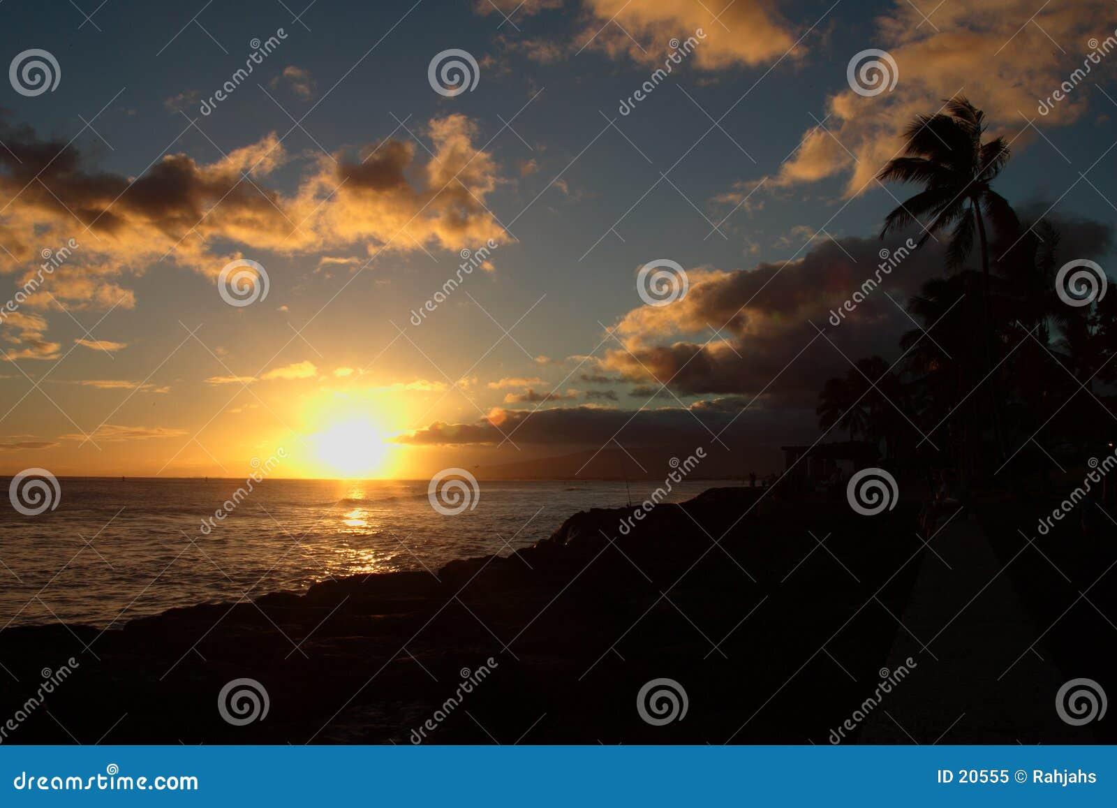 Coucher du soleil de Kakaako