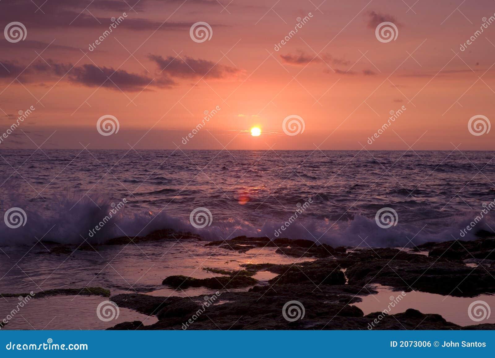 Coucher du soleil de Kona