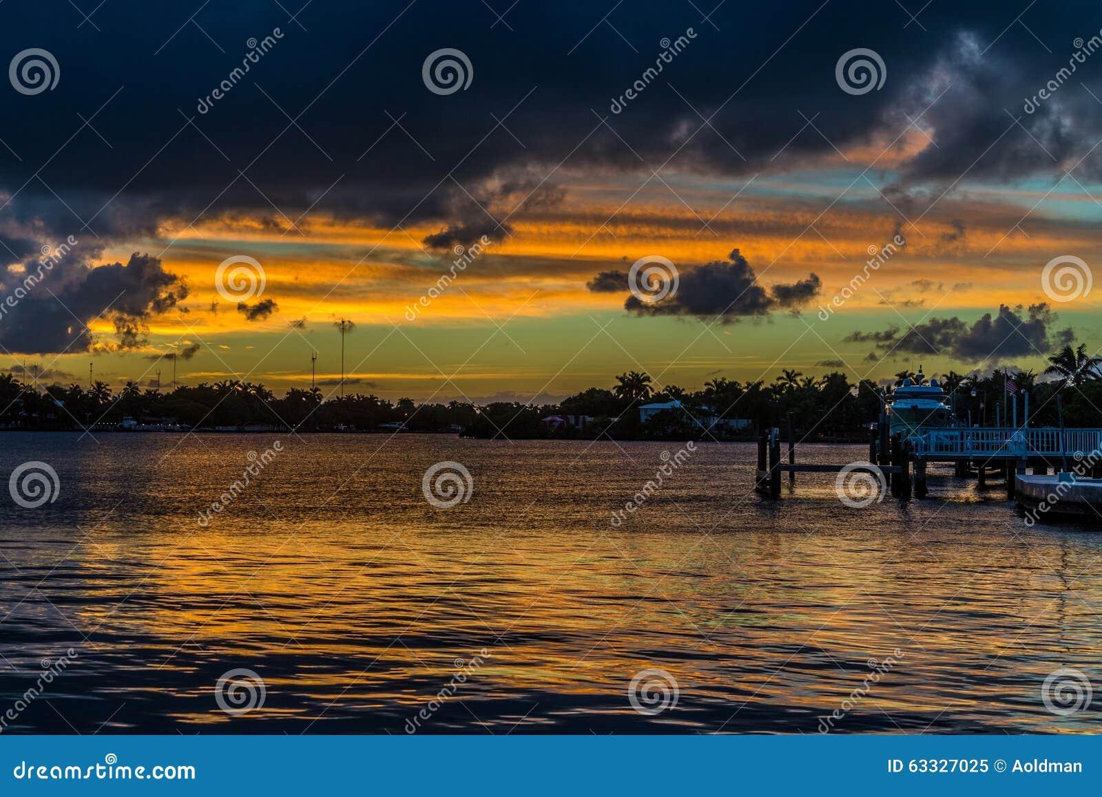 Coucher du soleil de la Floride