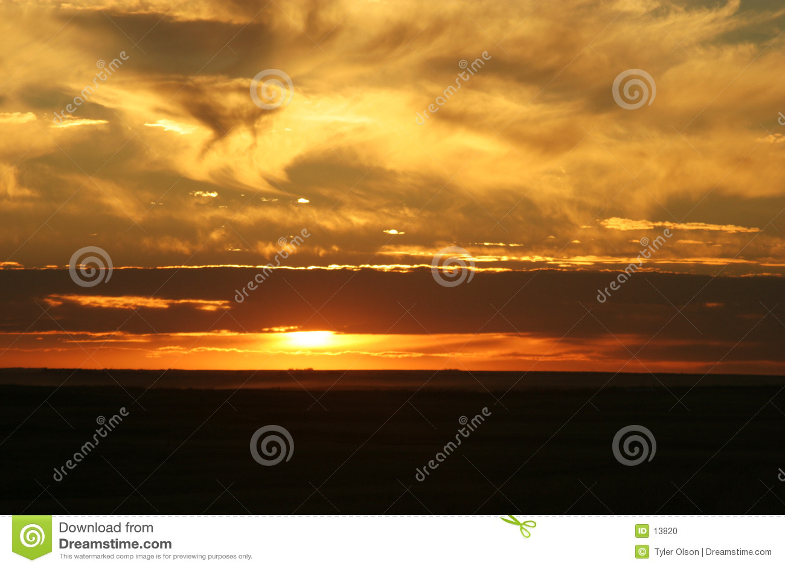 Coucher du soleil de Saskatchewan