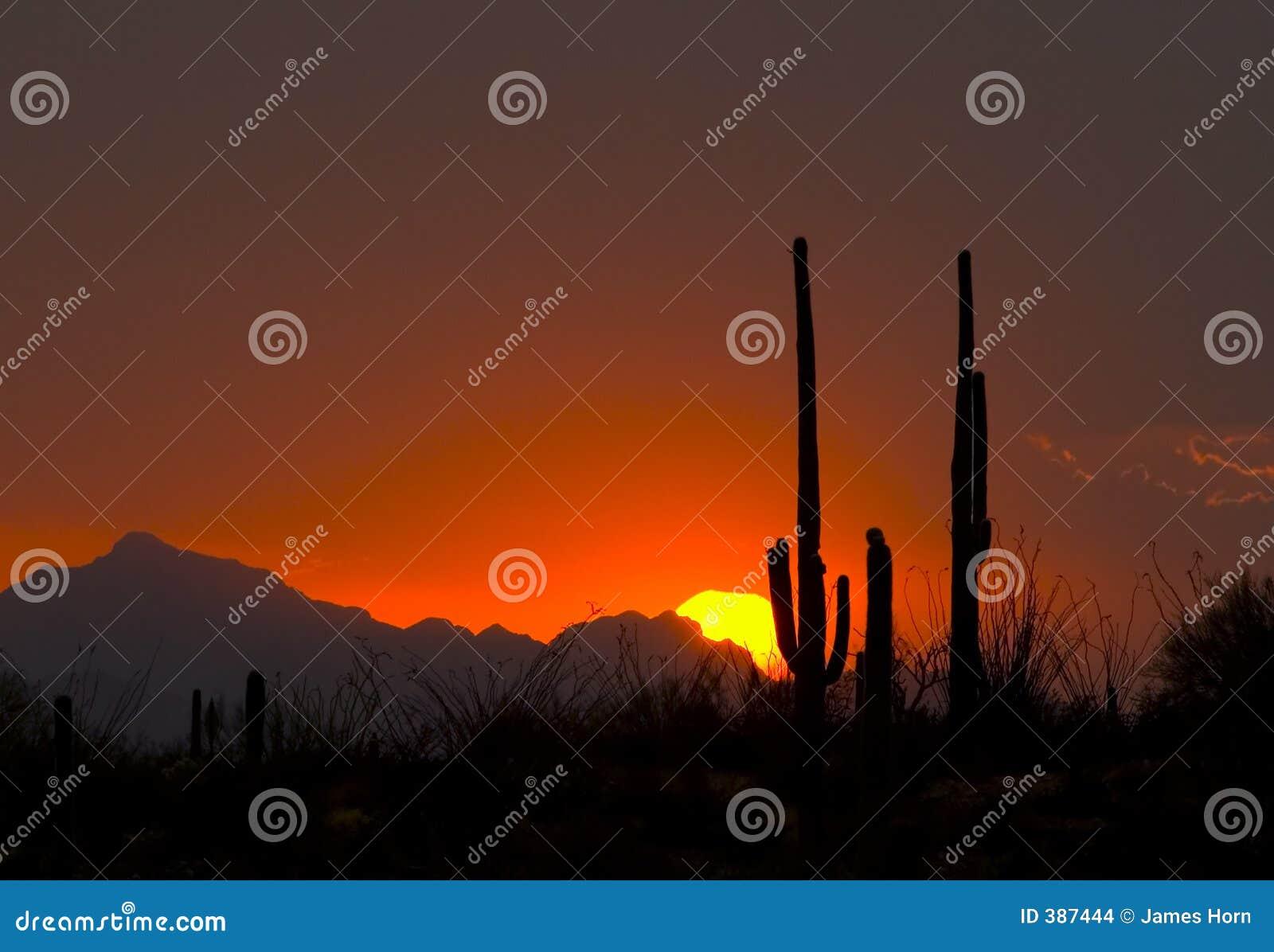 Coucher du soleil de Thundershower