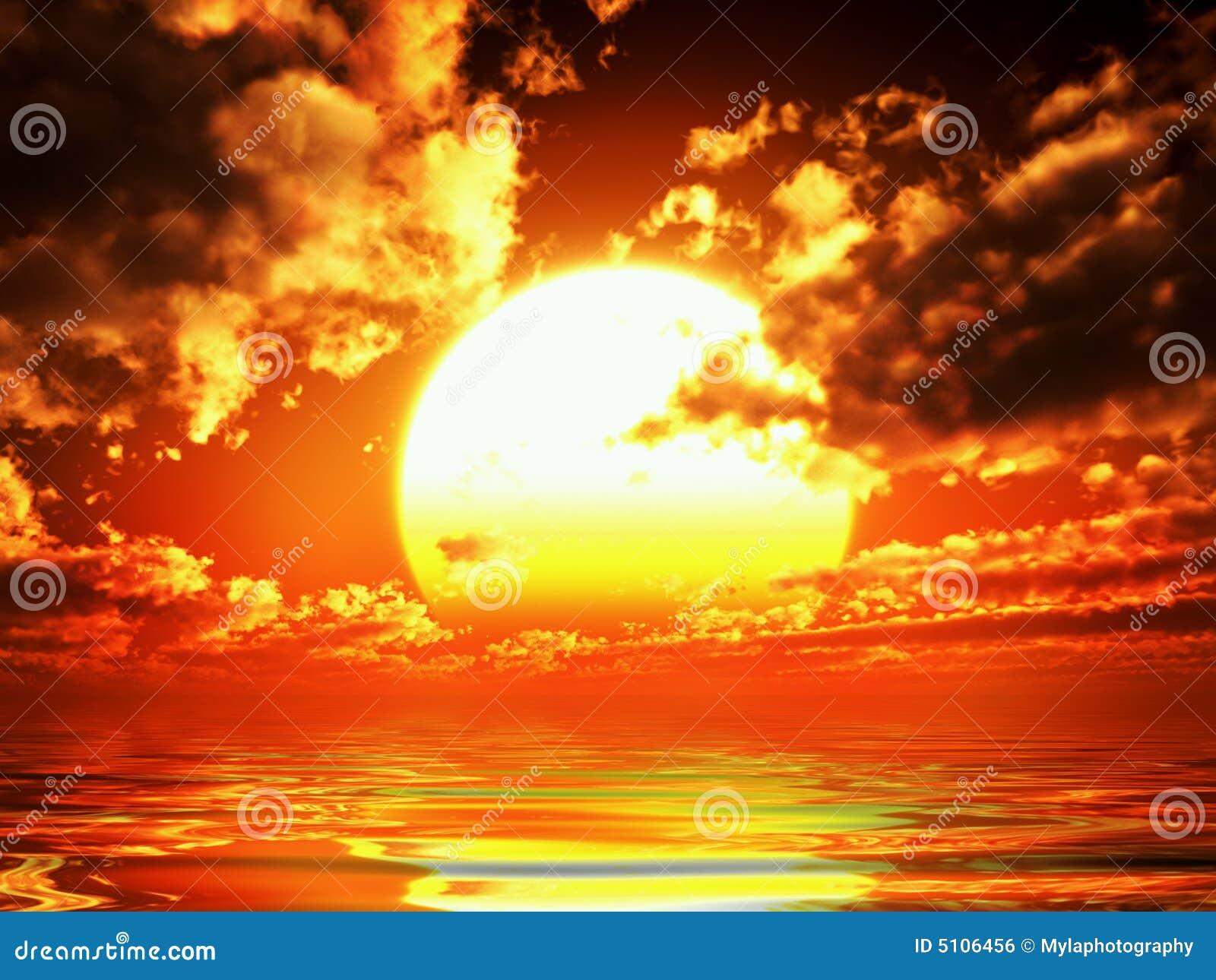 Coucher du soleil de Vue