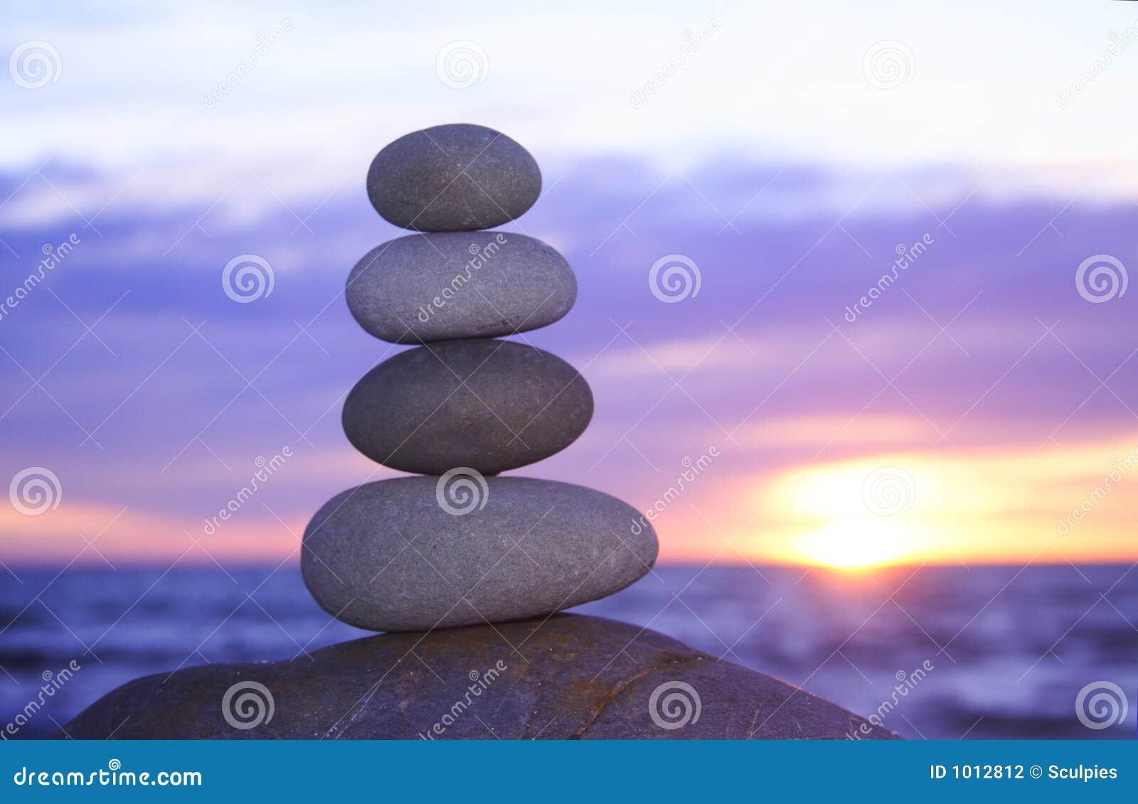 Coucher du soleil de zen
