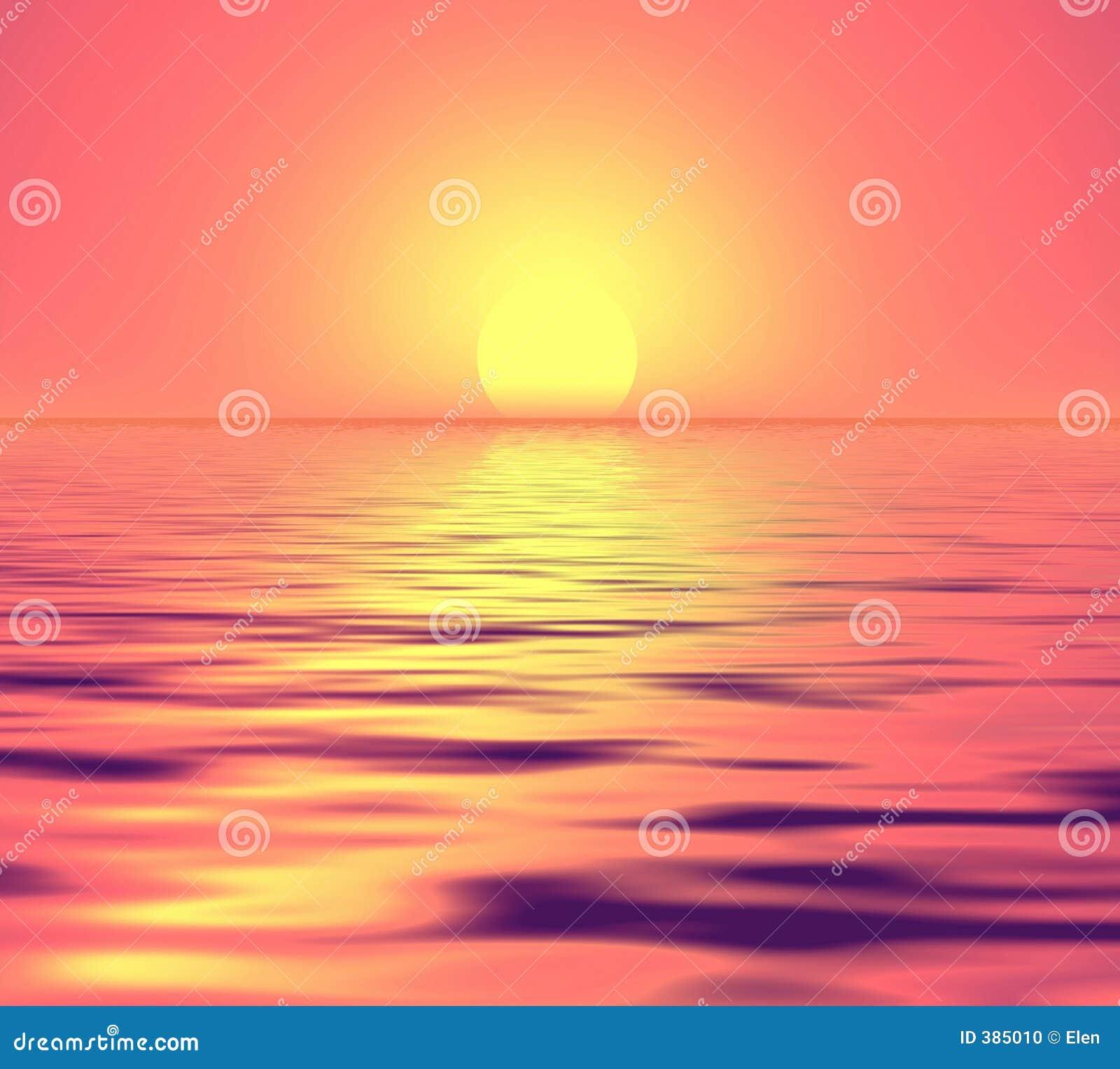 Coucher du soleil doucement rose.
