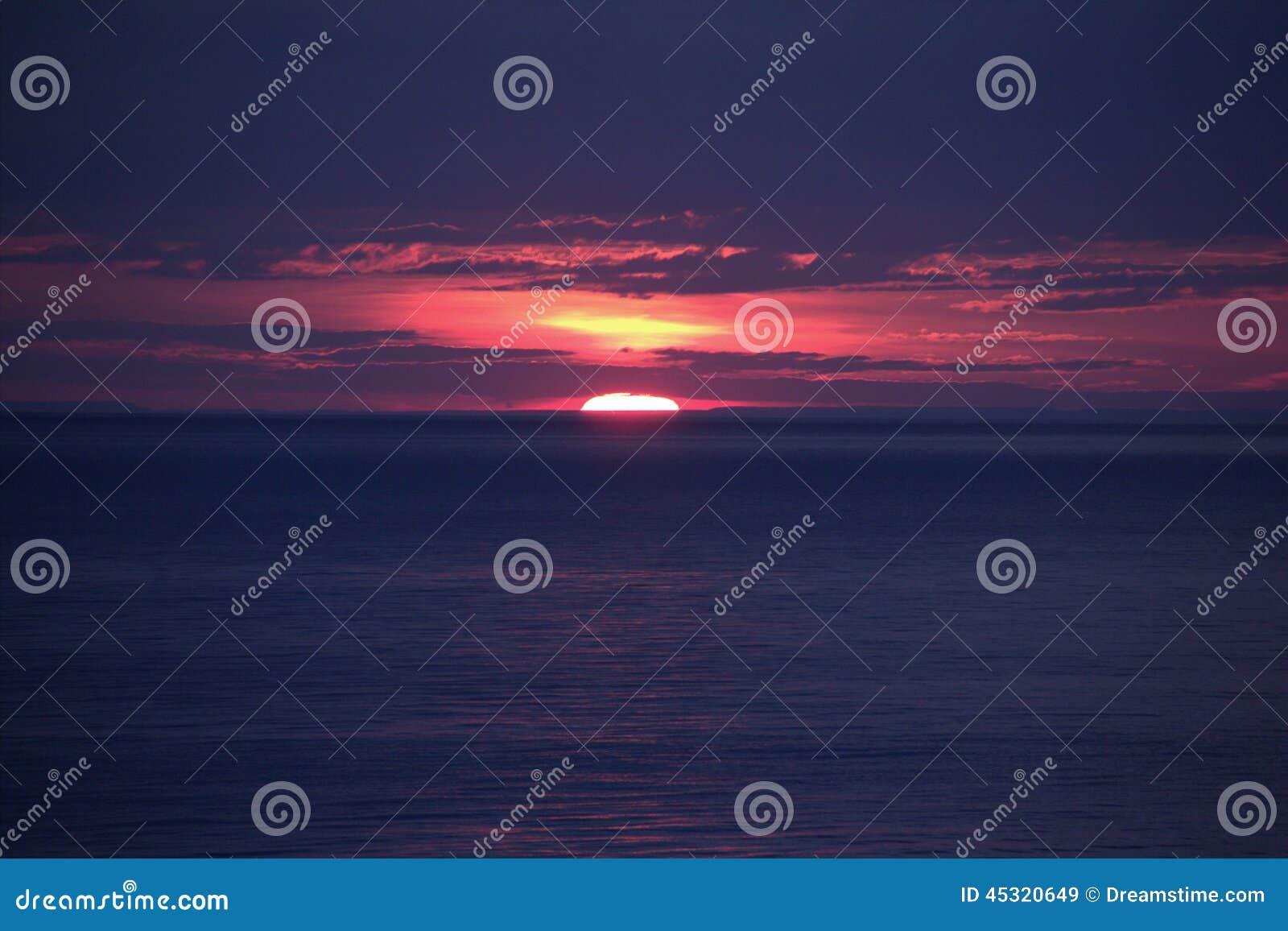 Coucher du soleil du lac Ontario