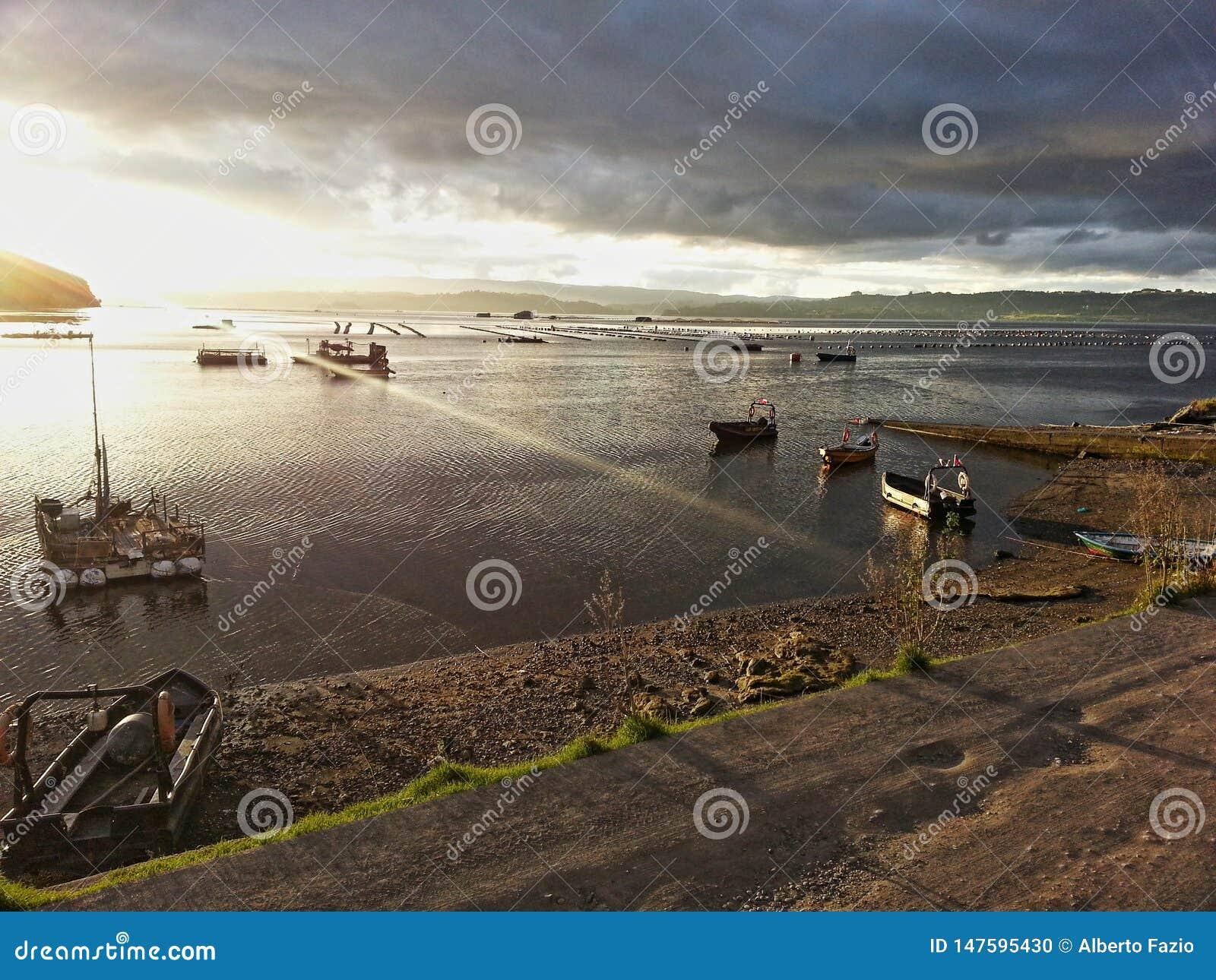 Coucher du soleil en île de Lemuy