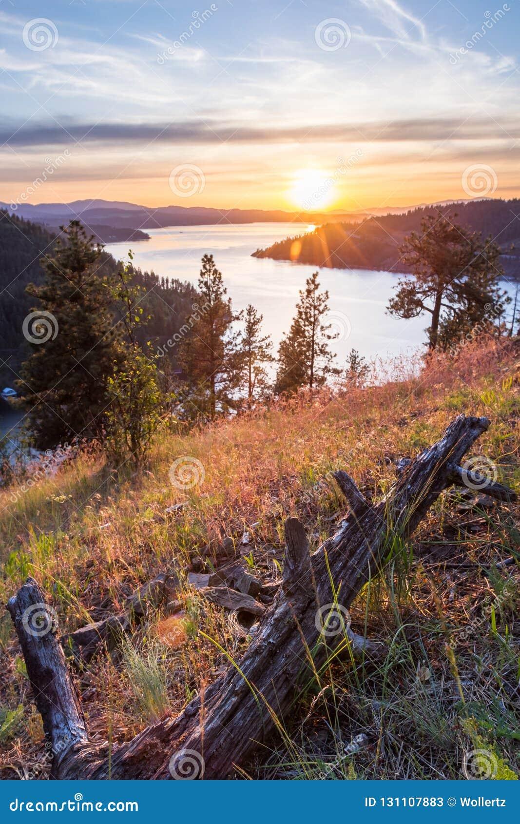 Coucher du soleil en Idaho