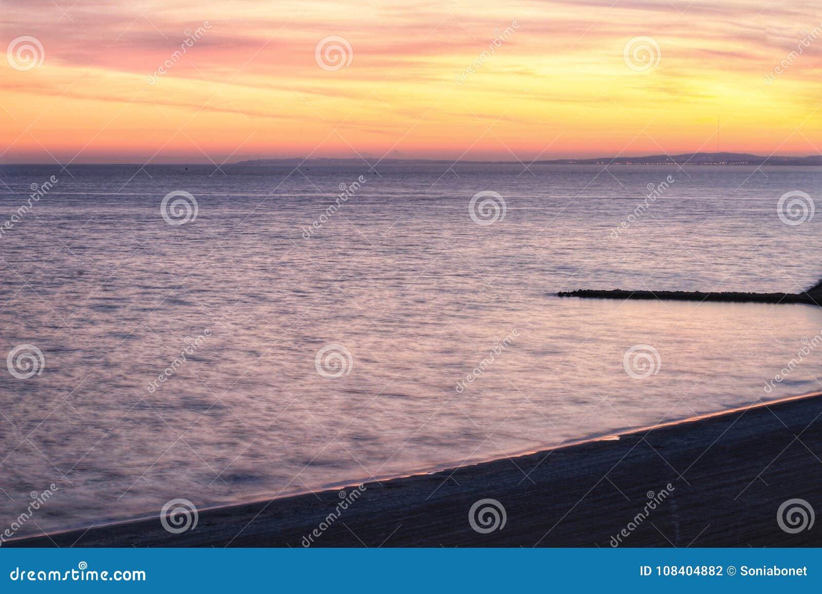 Coucher du soleil en Santa Pola