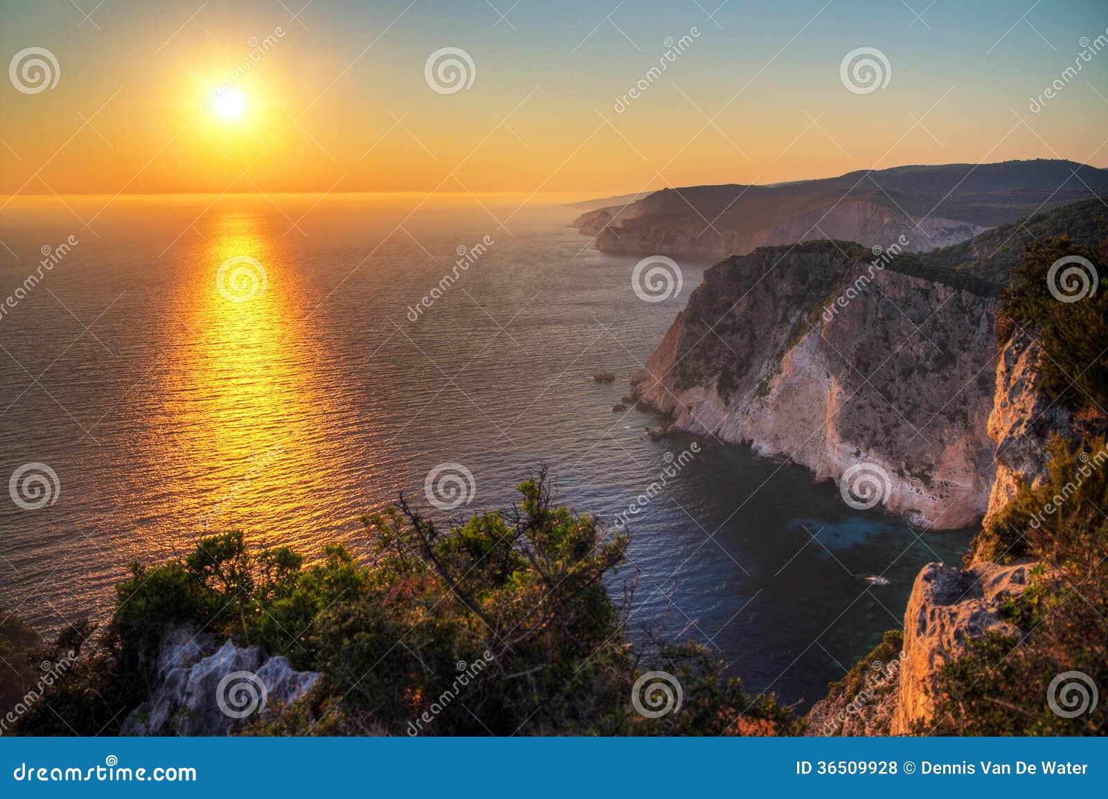 Coucher du soleil grec
