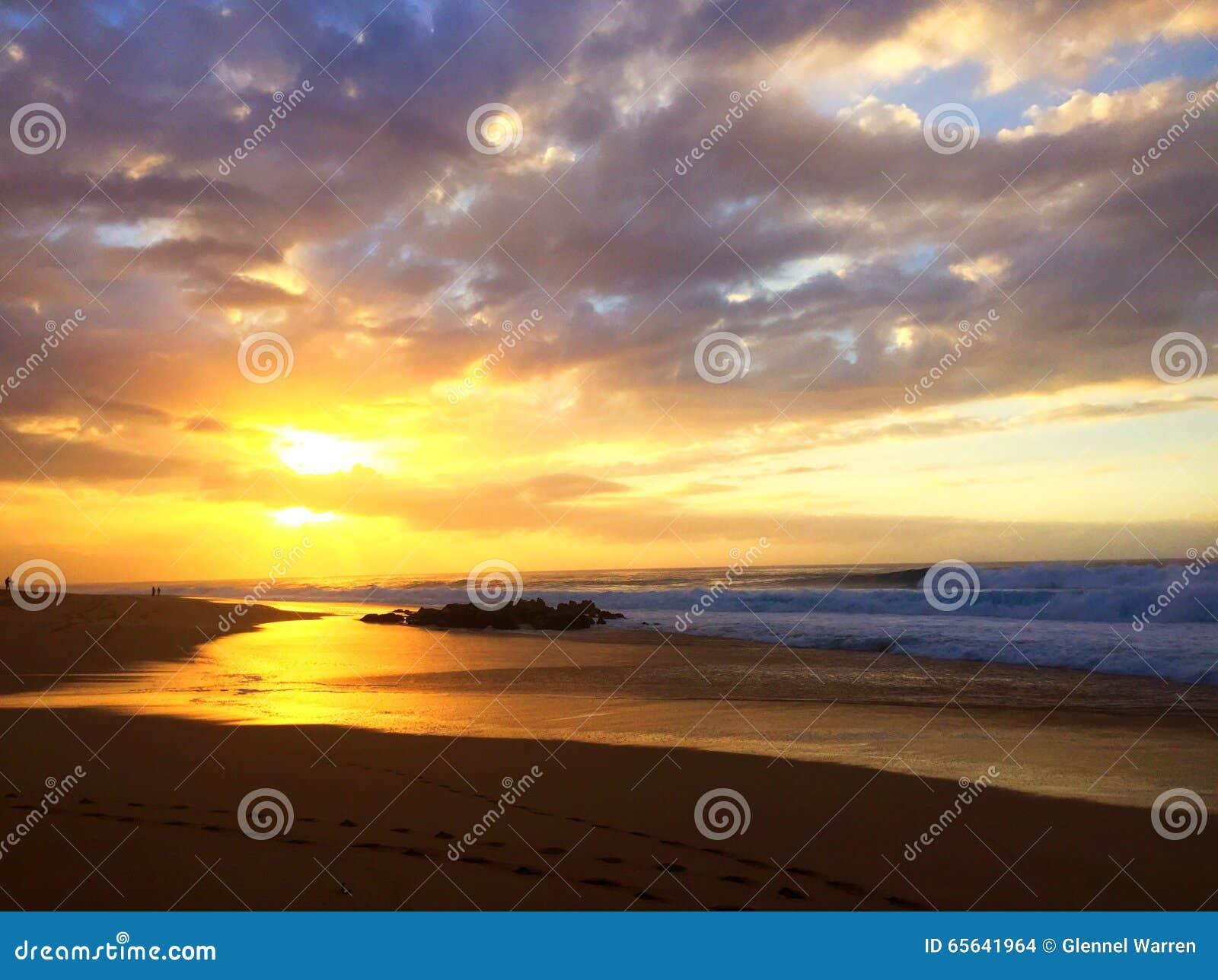 Coucher du soleil hawaïen