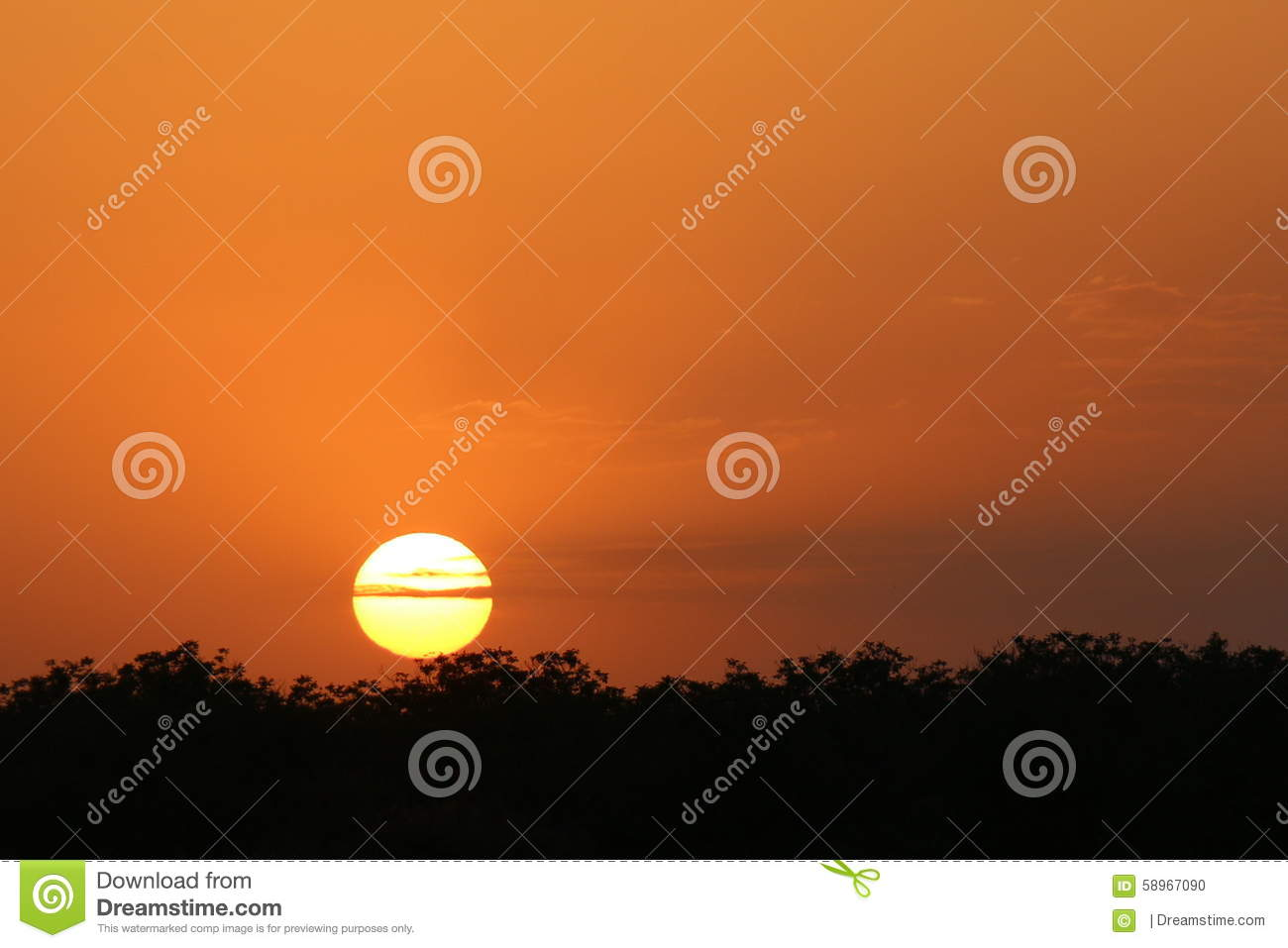 Coucher du soleil orange