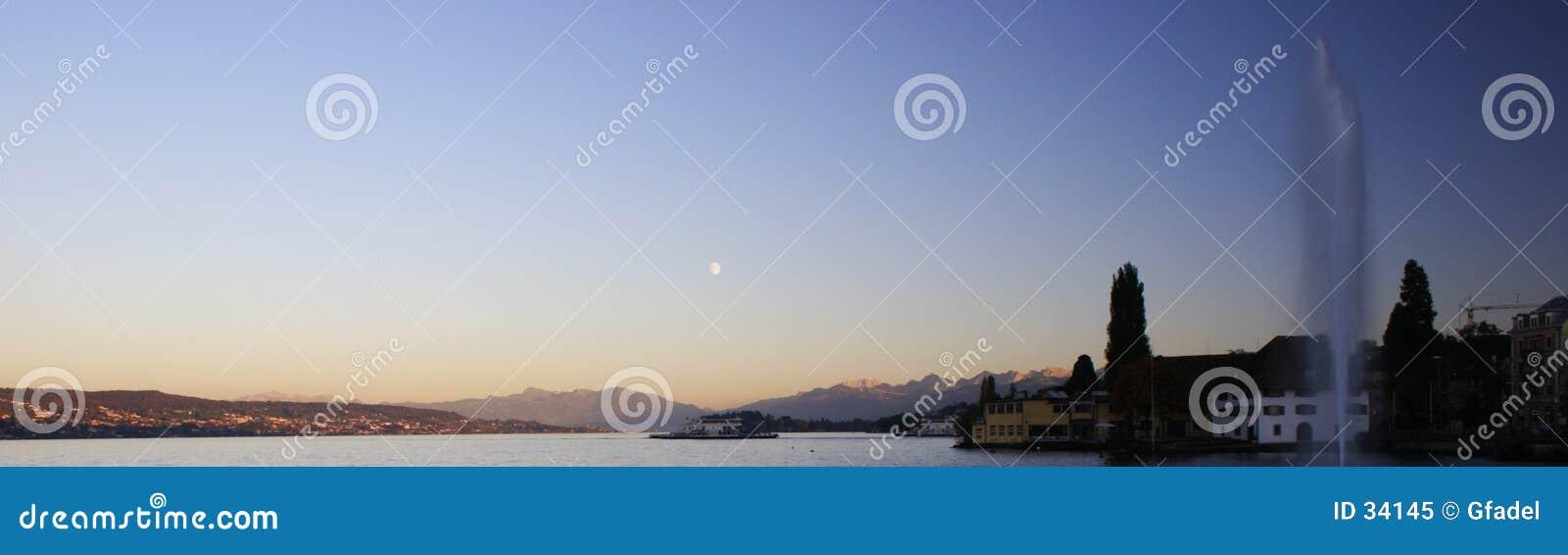 Coucher du soleil - panorama