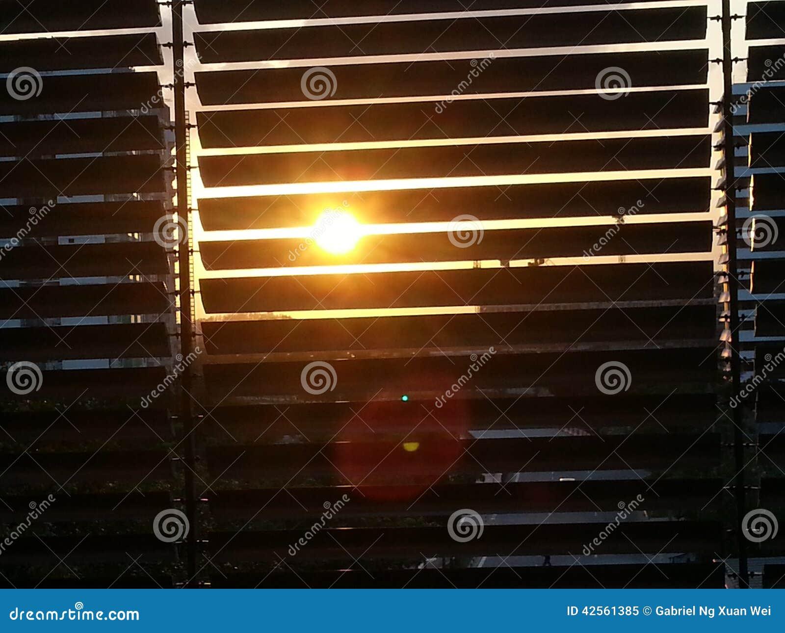 Coucher du soleil par Windows