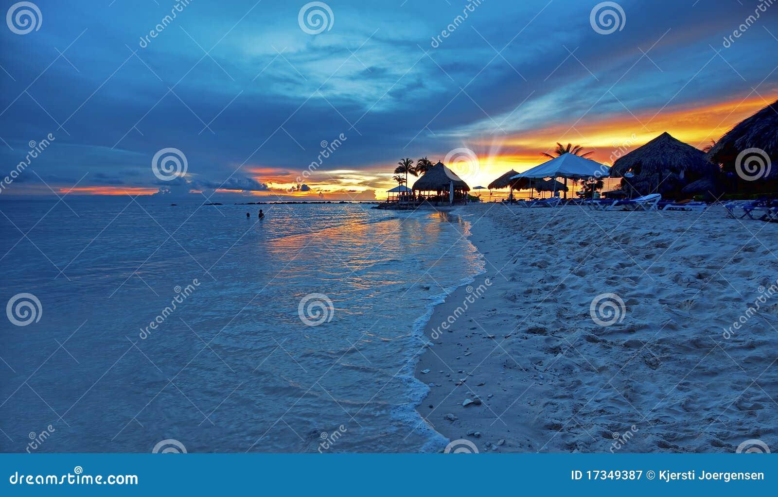Coucher du soleil sur le Curaçao