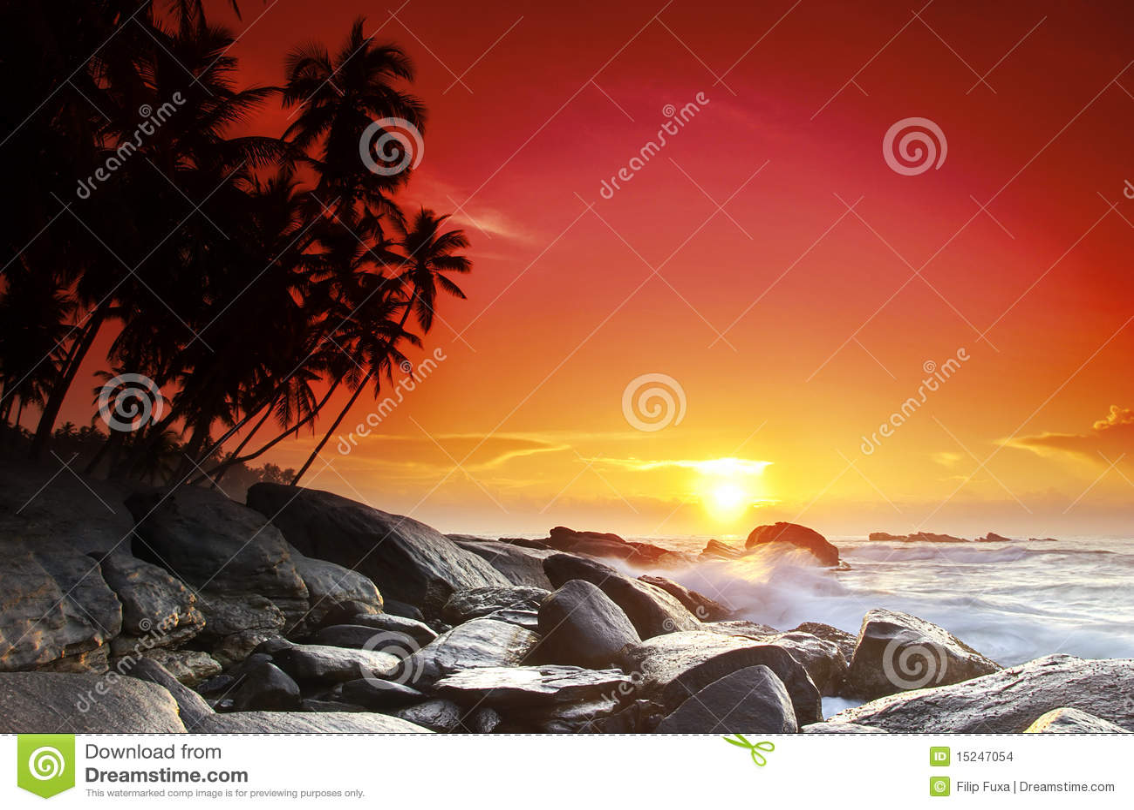 Coucher du soleil sur le Sri Lanka