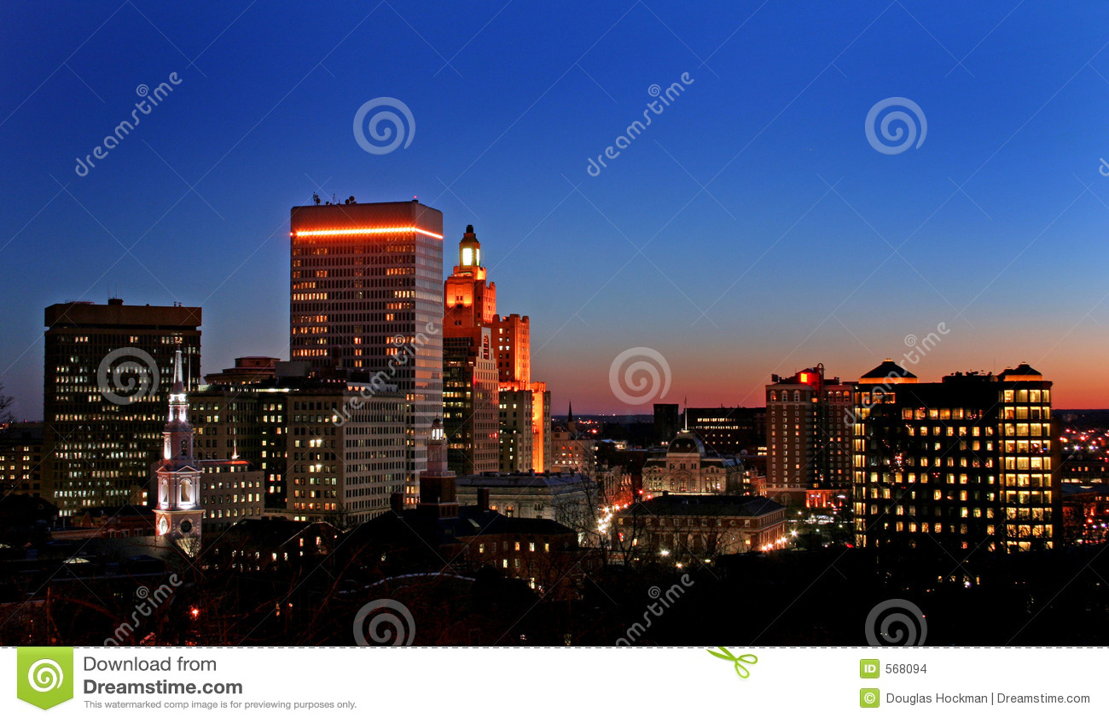 Coucher du soleil sur Providence